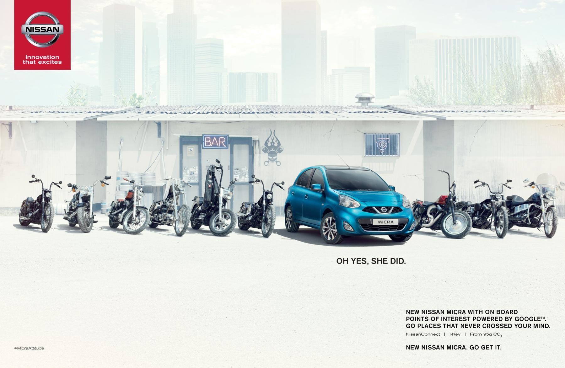 Nissan Outdoor Ad -  Bikers