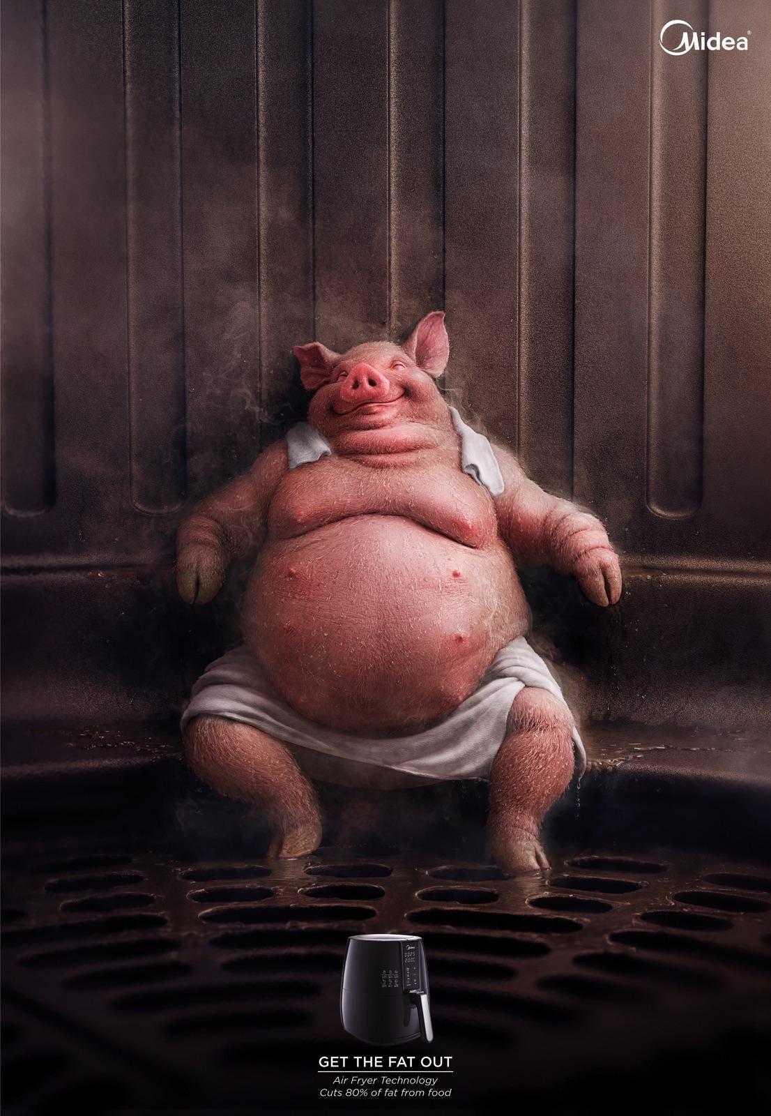 Midea Print Ad - Chubby Pig