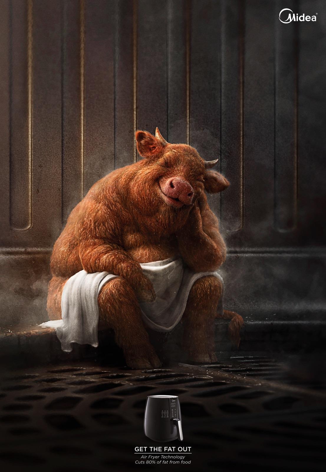 Midea Print Ad - Fatty Cow