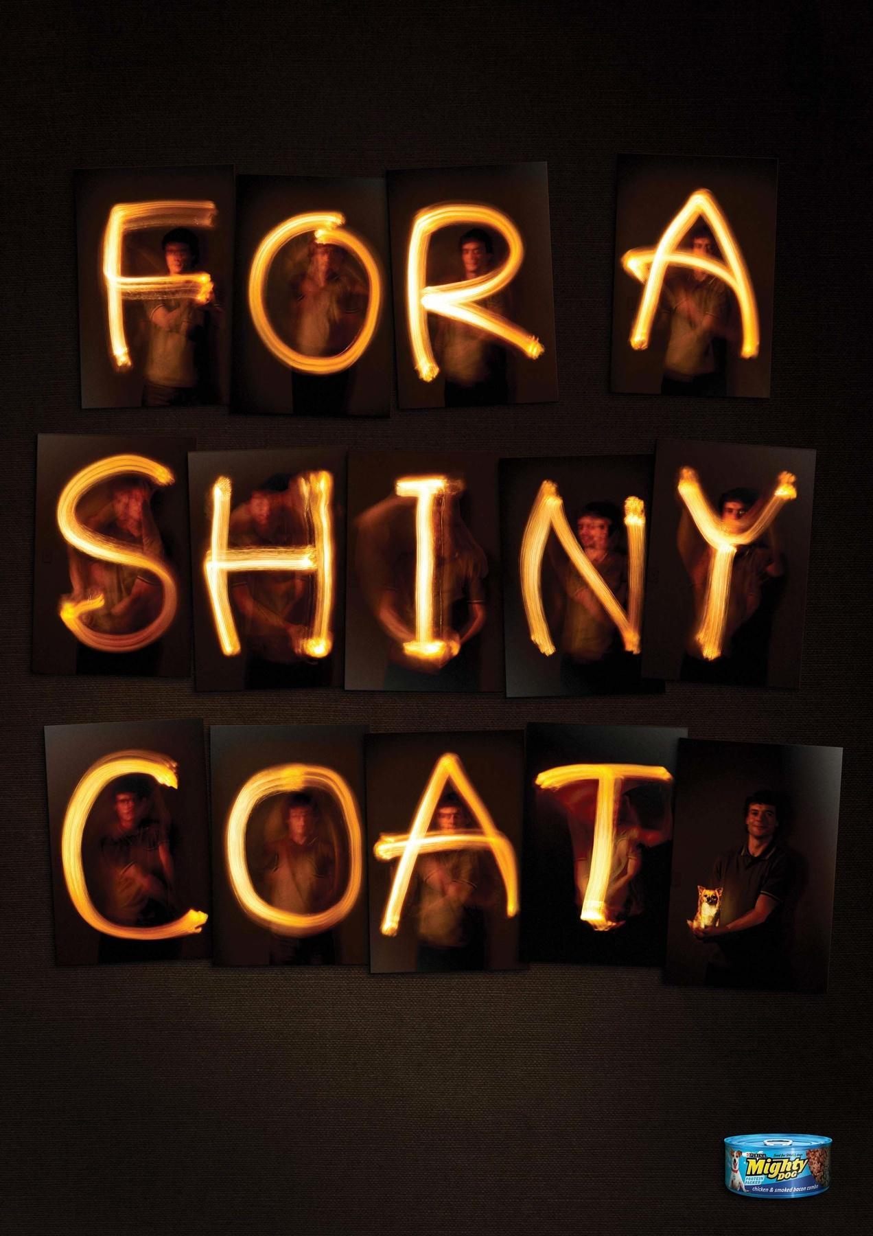 Mighty Dog Print Ad -  For a Shiny Coat