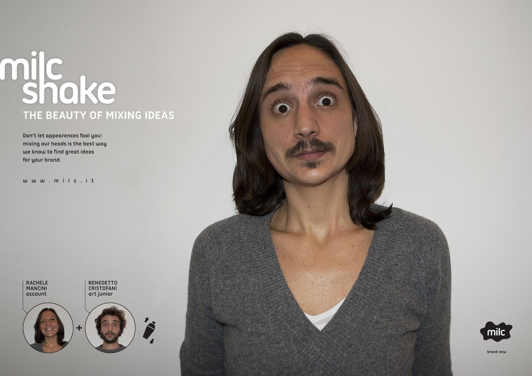 Milc Print Ad -  Milc shake, Rachele Cristofani