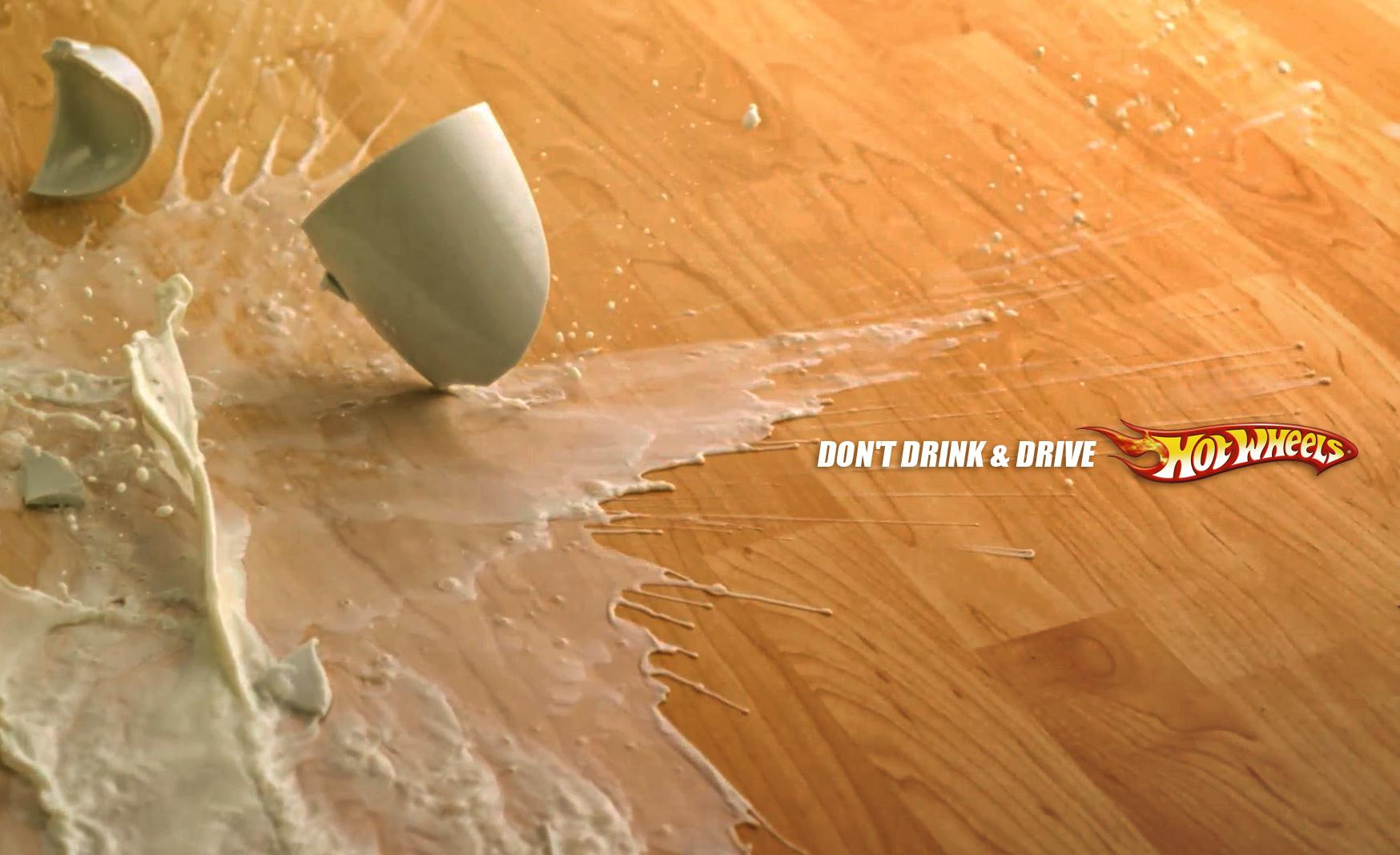 Hot Wheels Print Ad - Spilled Out - Milk