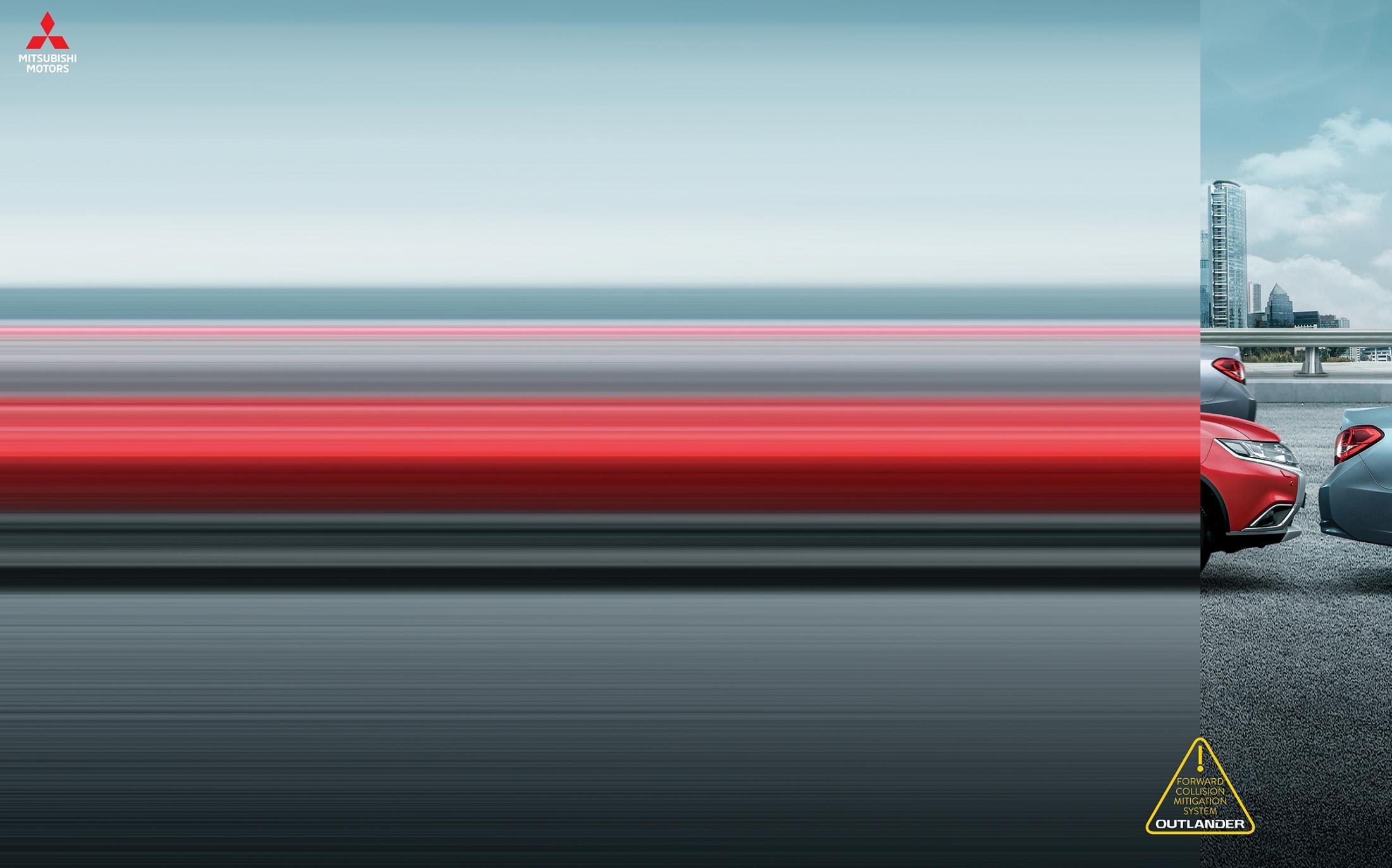 Mitsubishi Print Ad - Forward Collision Mitigation System, 1