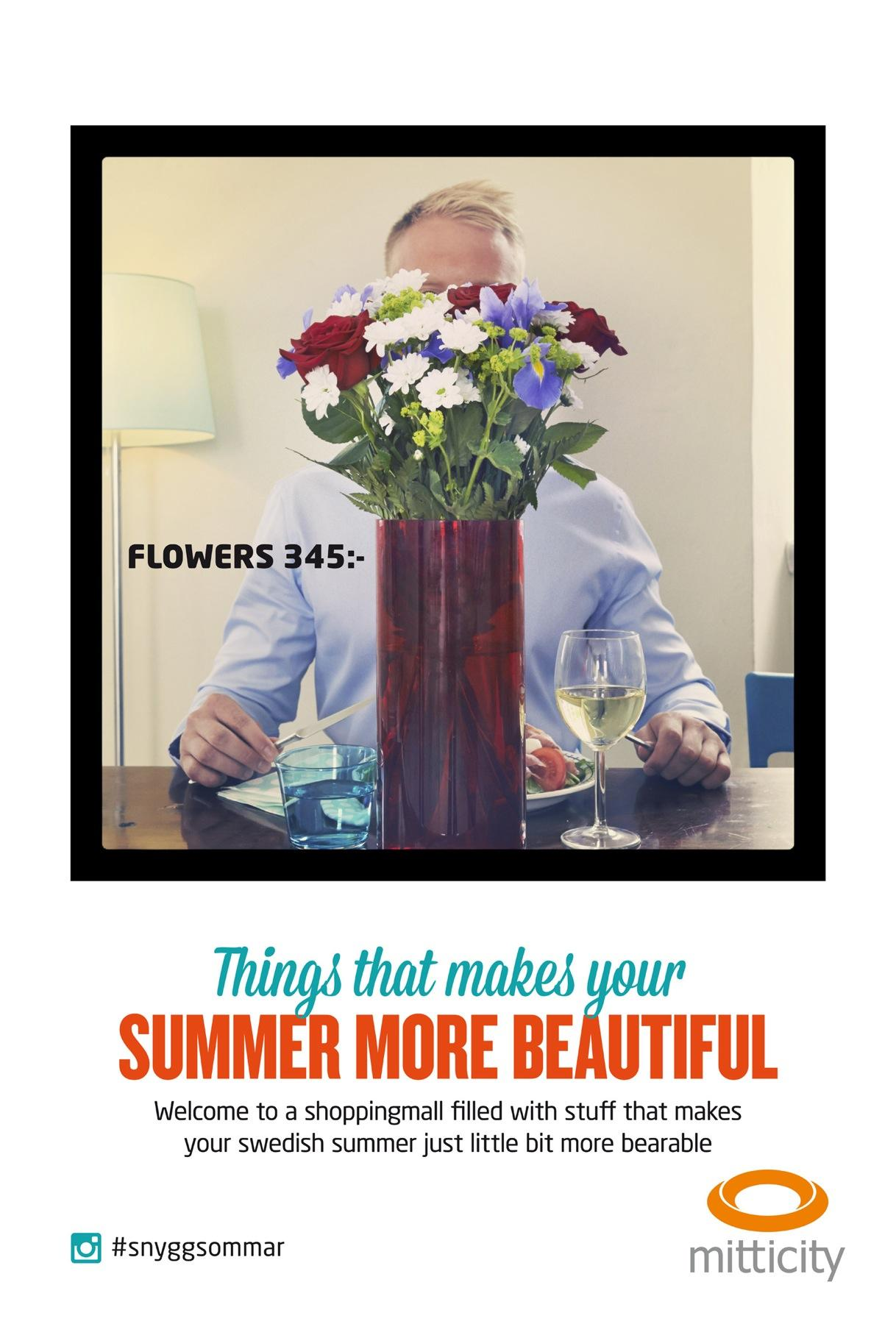 Mitticity Outdoor Ad -  Flowers