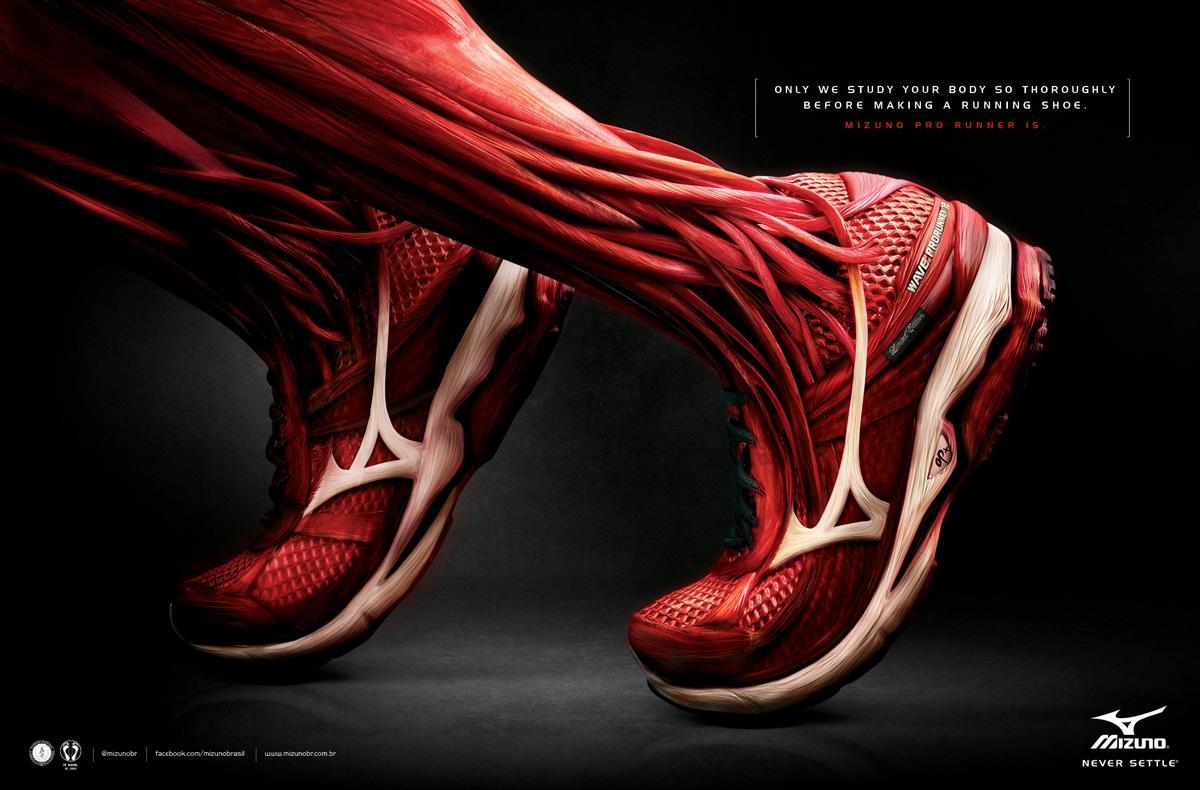 Mizuno Print Ad -  Muscle, 1