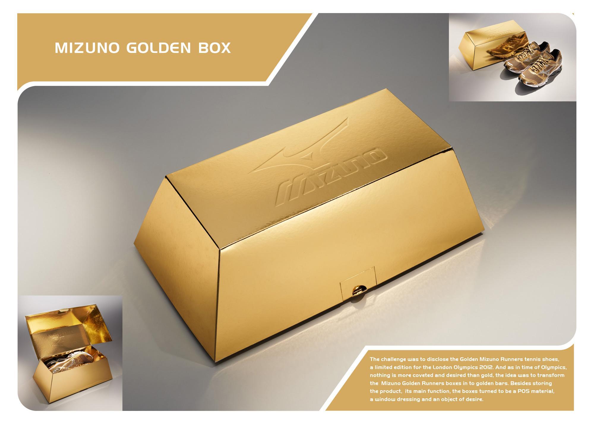 Mizuno Direct Ad -  Golden box