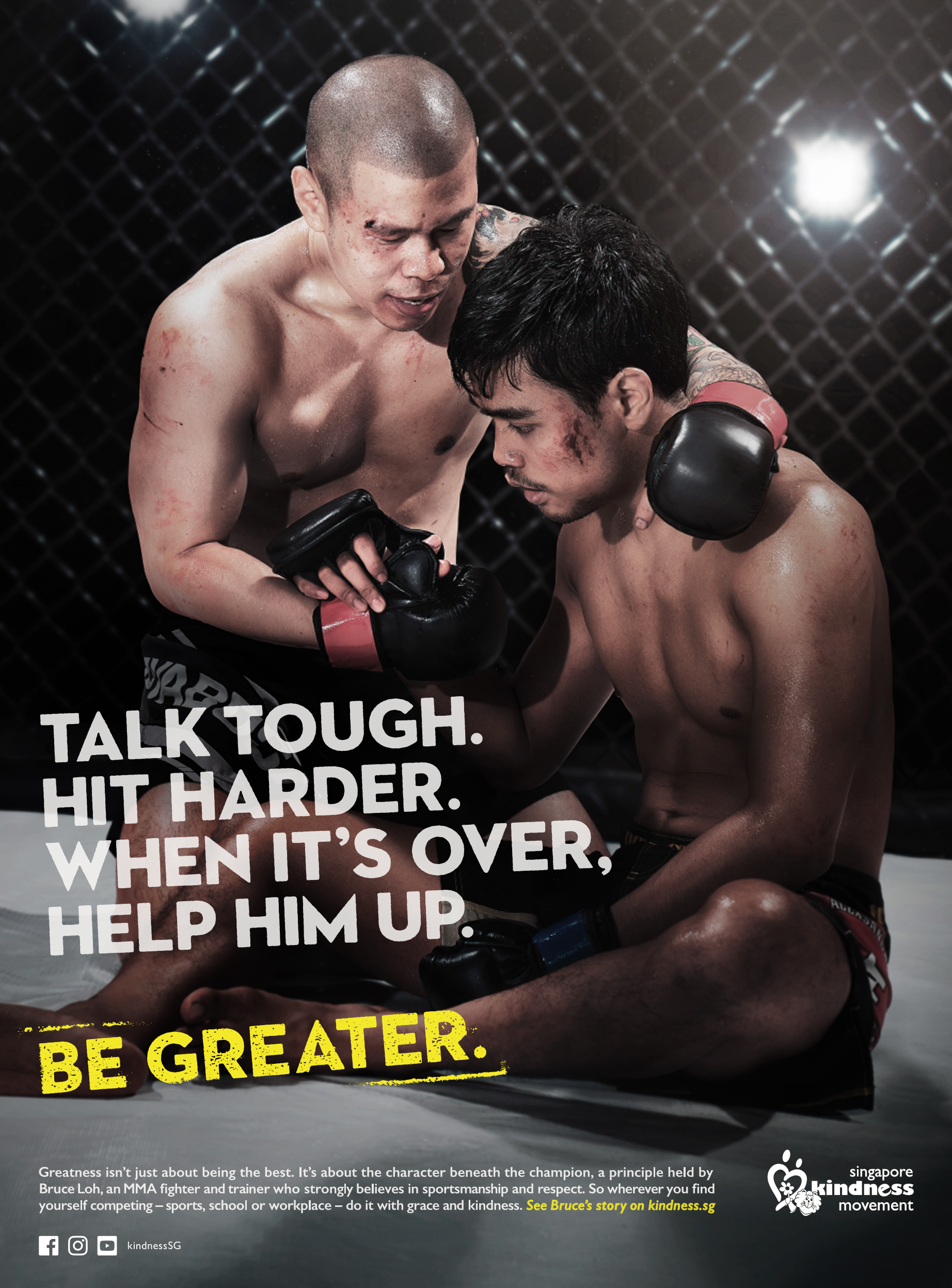 Singapore Kindness Movement Print Ad - Be Greater, 4