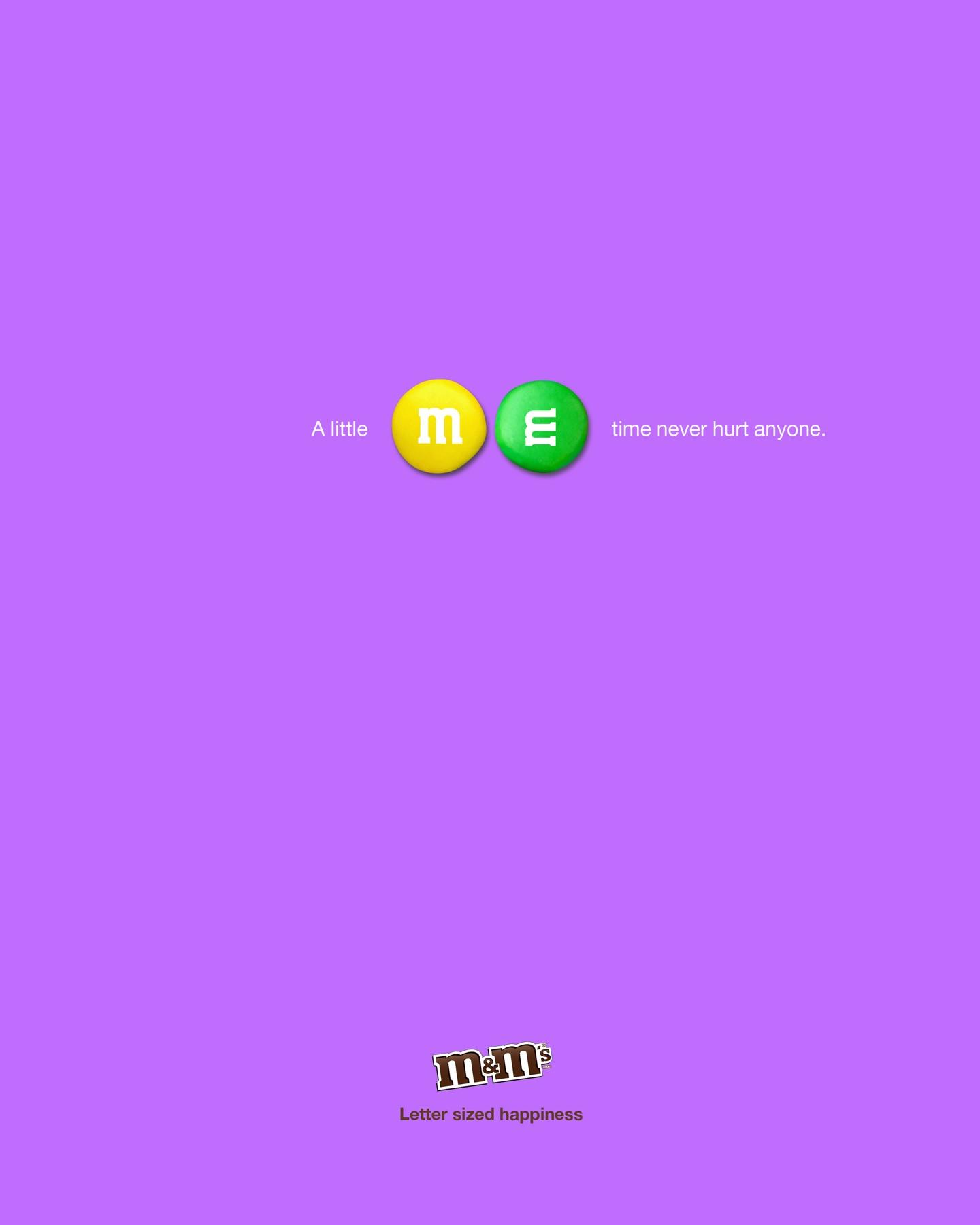 M&M's Print Ad -  Me