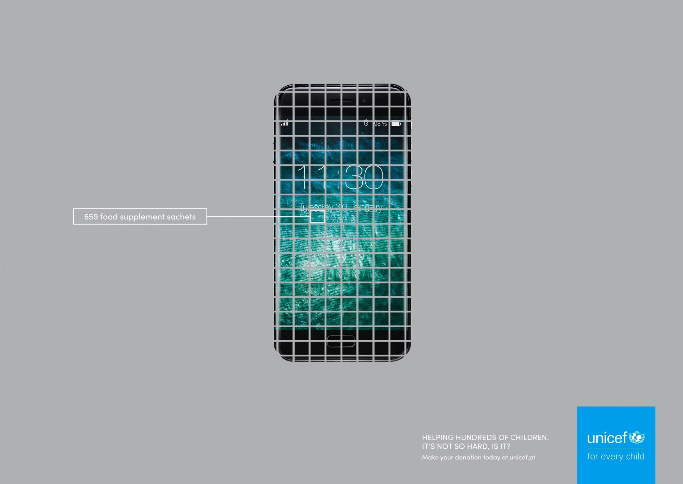 Unicef Print Ad - Mobile