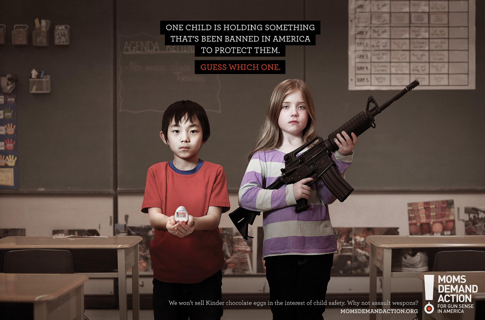 Moms Demand Action For Gun Sense In America Print Ad -  Kinder Egg