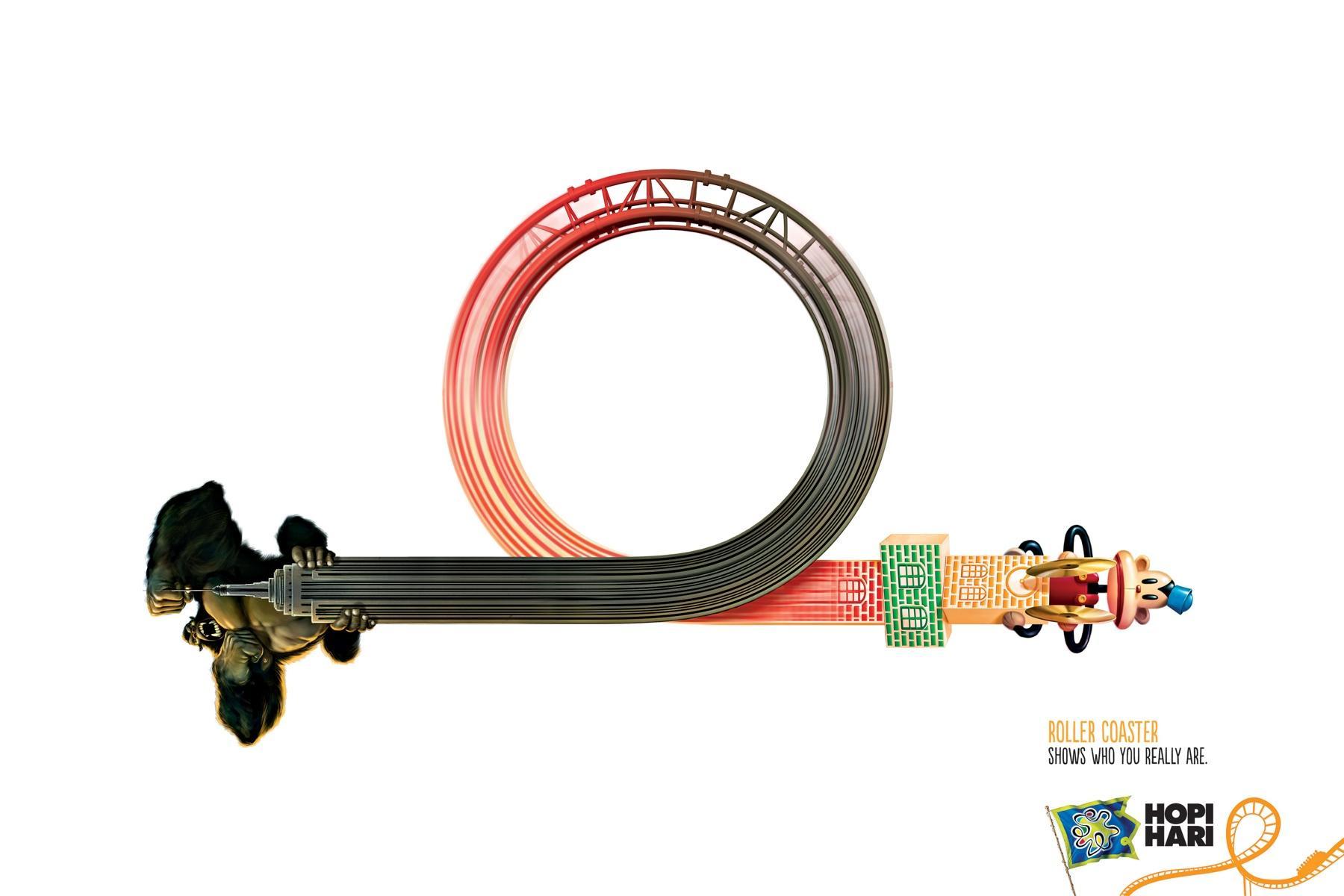 Hopi Hari Theme Park Print Ad -  Monkey