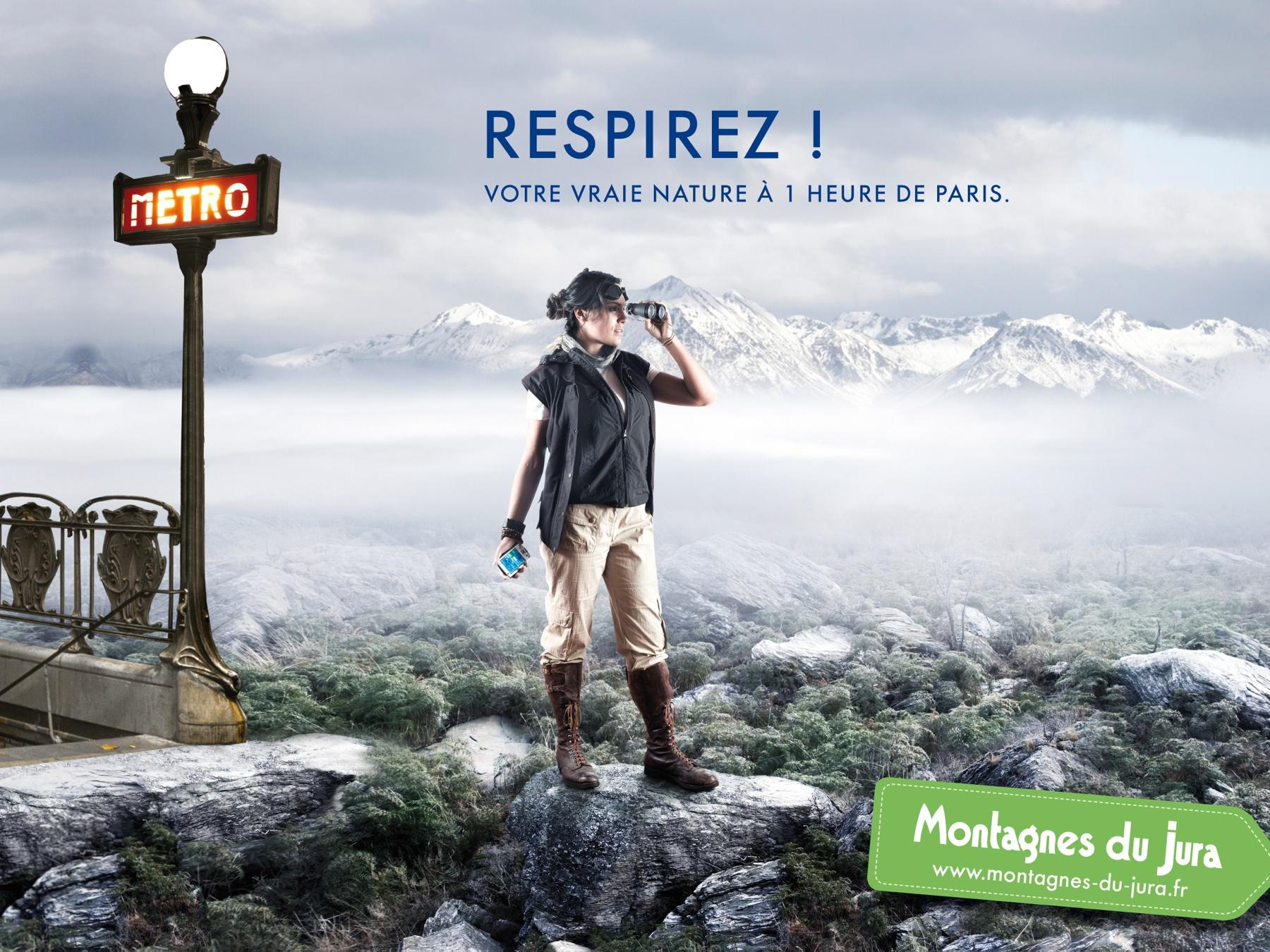 JURA mountain Print Ad -  Paris