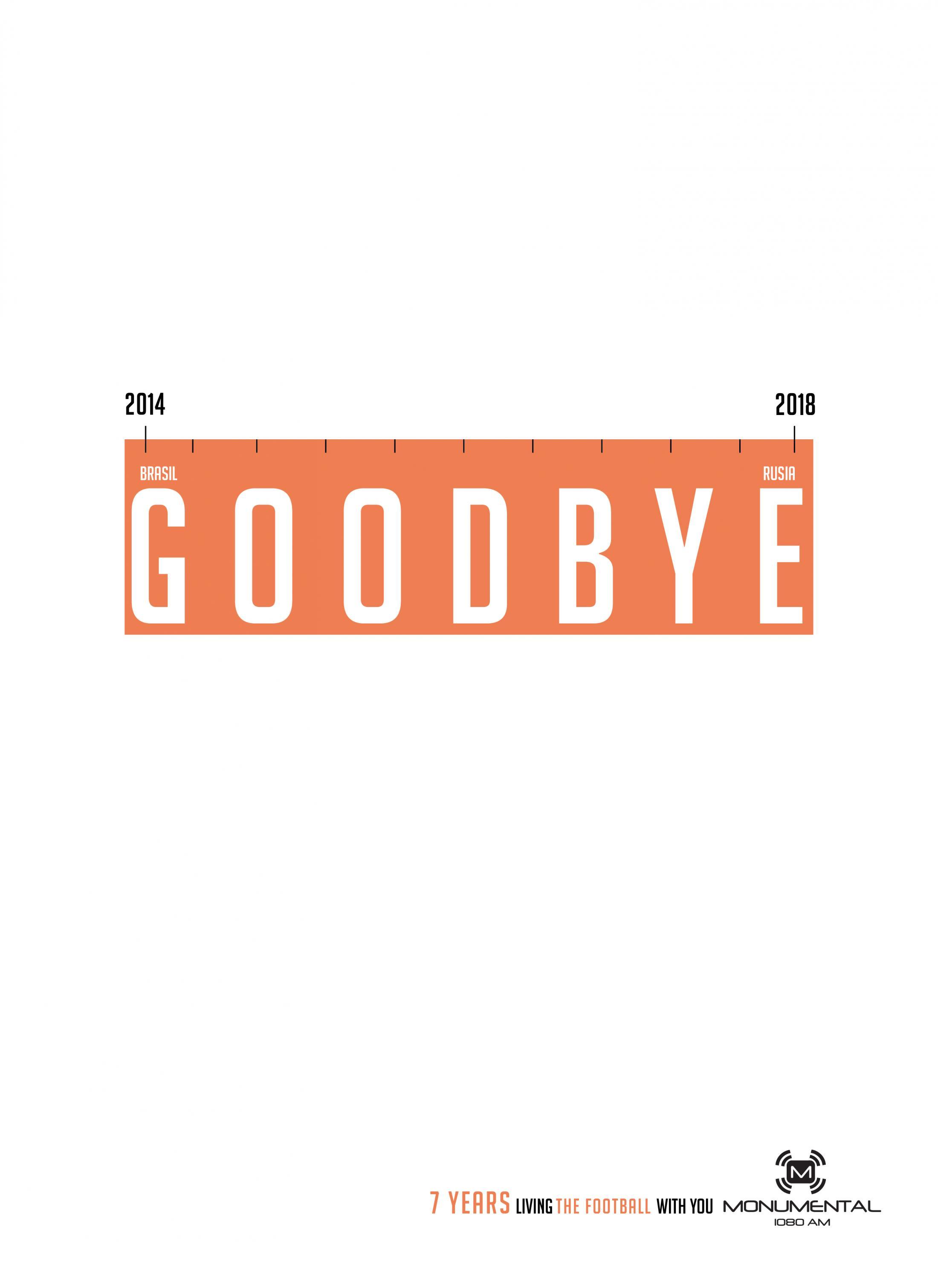 Monumental Print Ad - Monumental 7th Anniversary - Goodbye