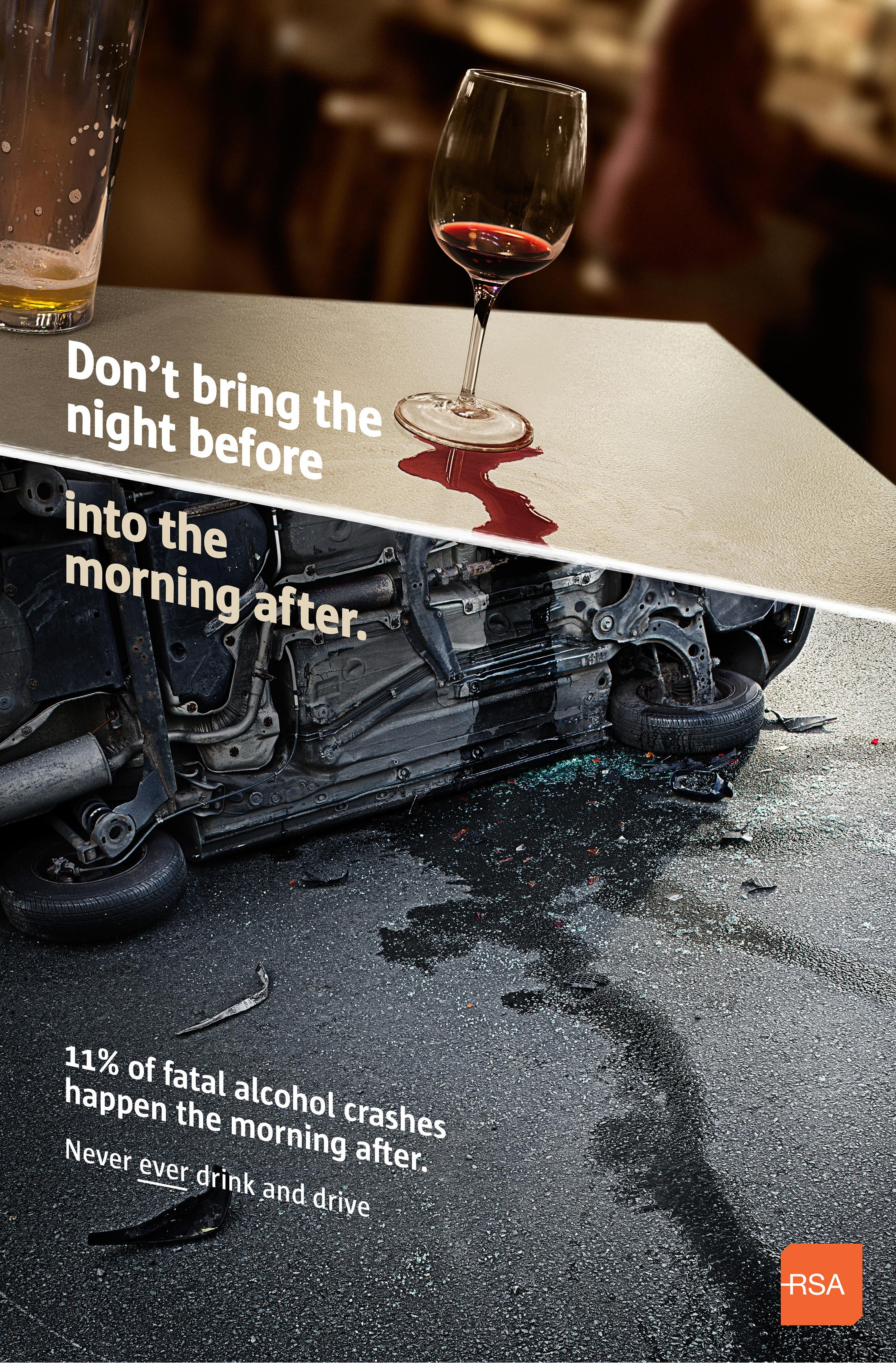 Road Safety Authority Ireland Print Ad - Morning After