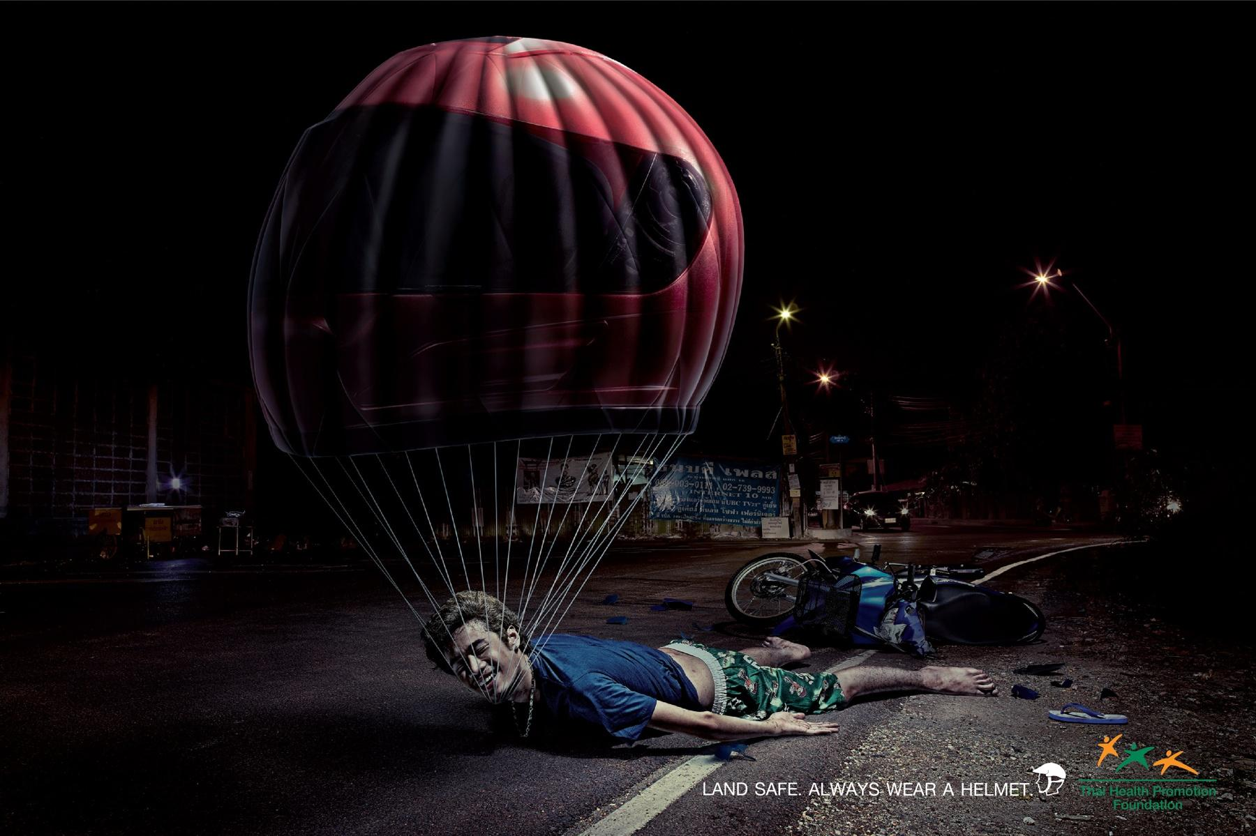 Thai Health Promotion Foundation Print Ad -  Motorcycle