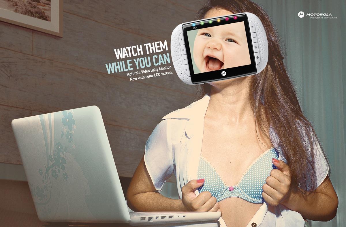 Motorola Print Ad -  Video chat