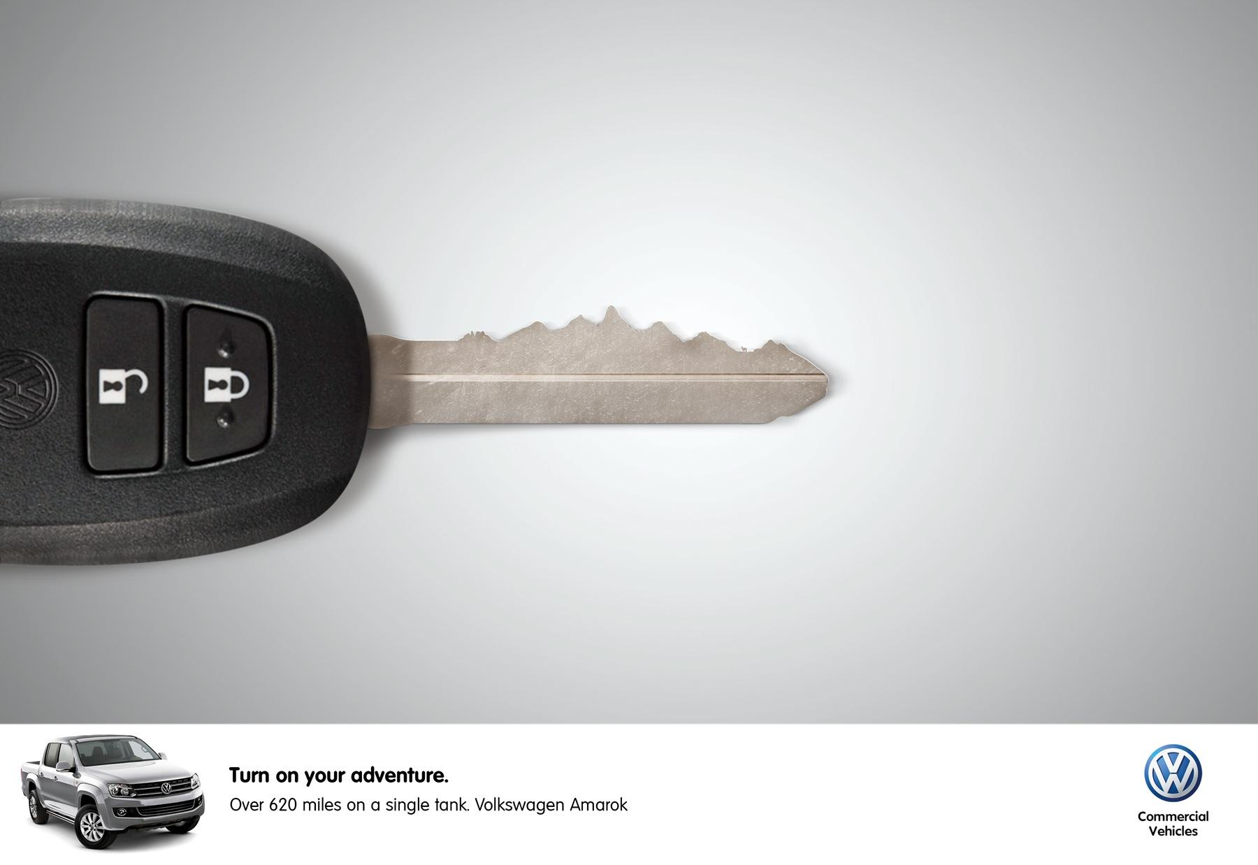 Volkswagen Print Ad -  Mountain