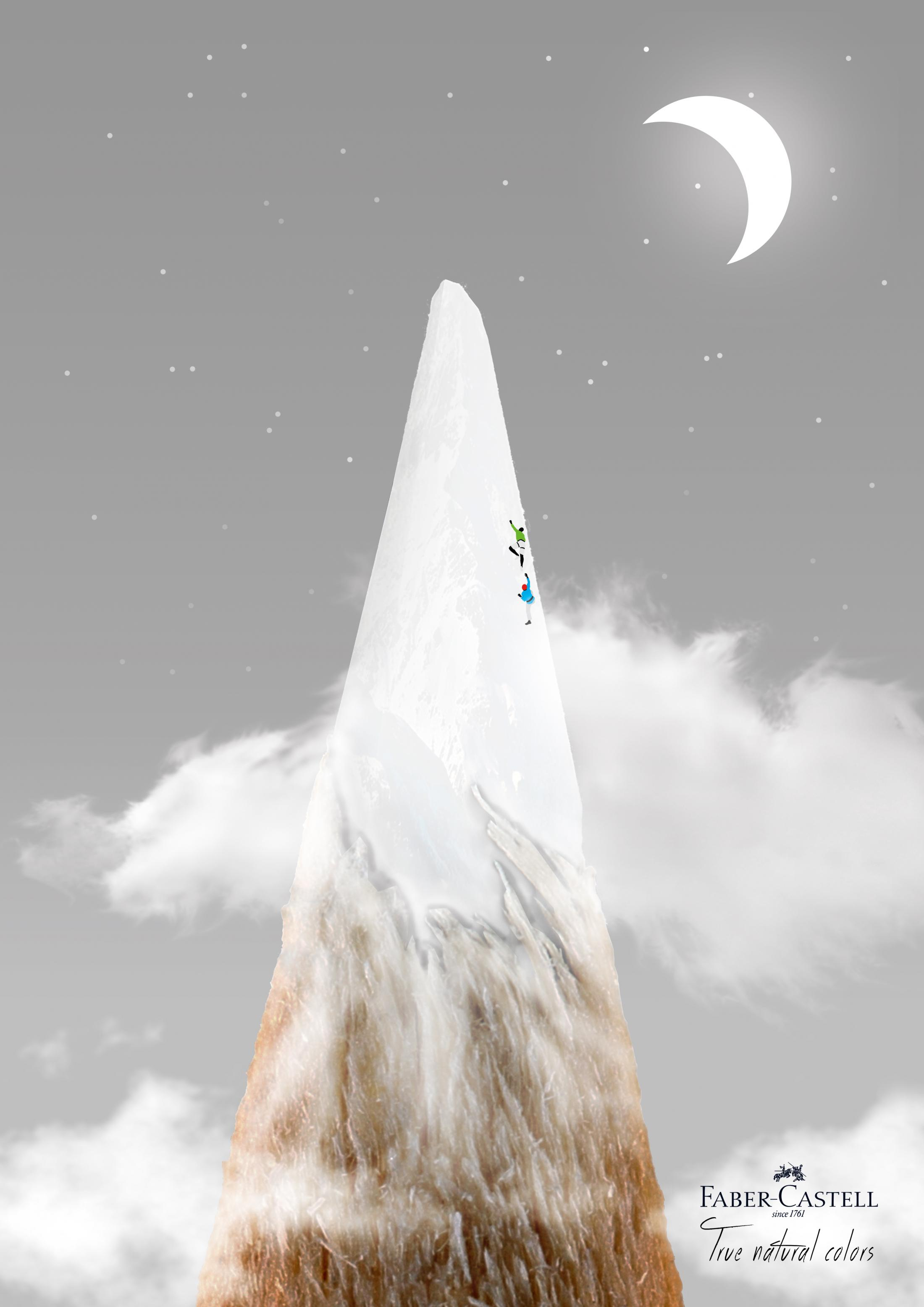 Faber Castell Print Ad - Mountain