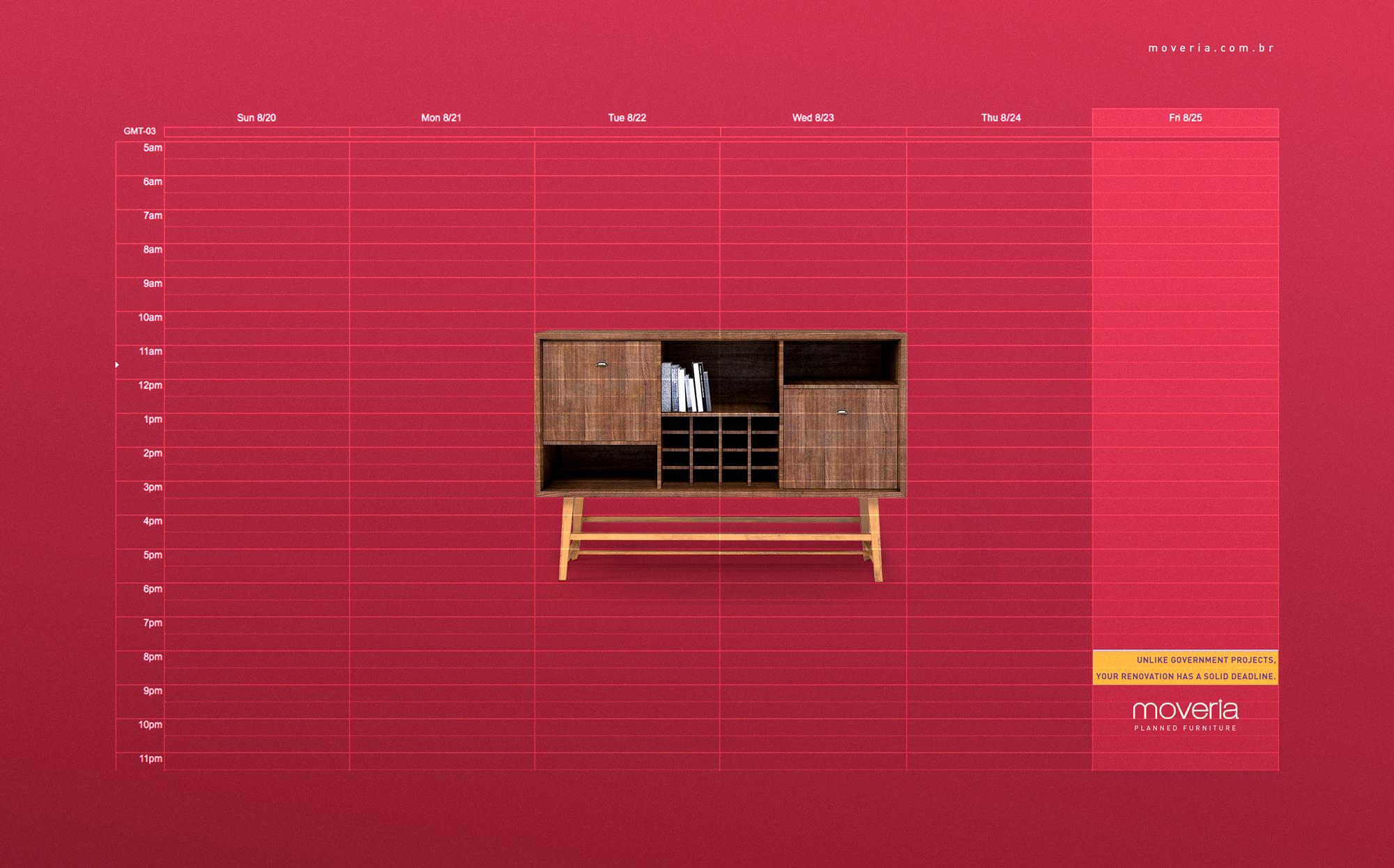 Moveria Print Ad - Planned Furniture - Appointment Book