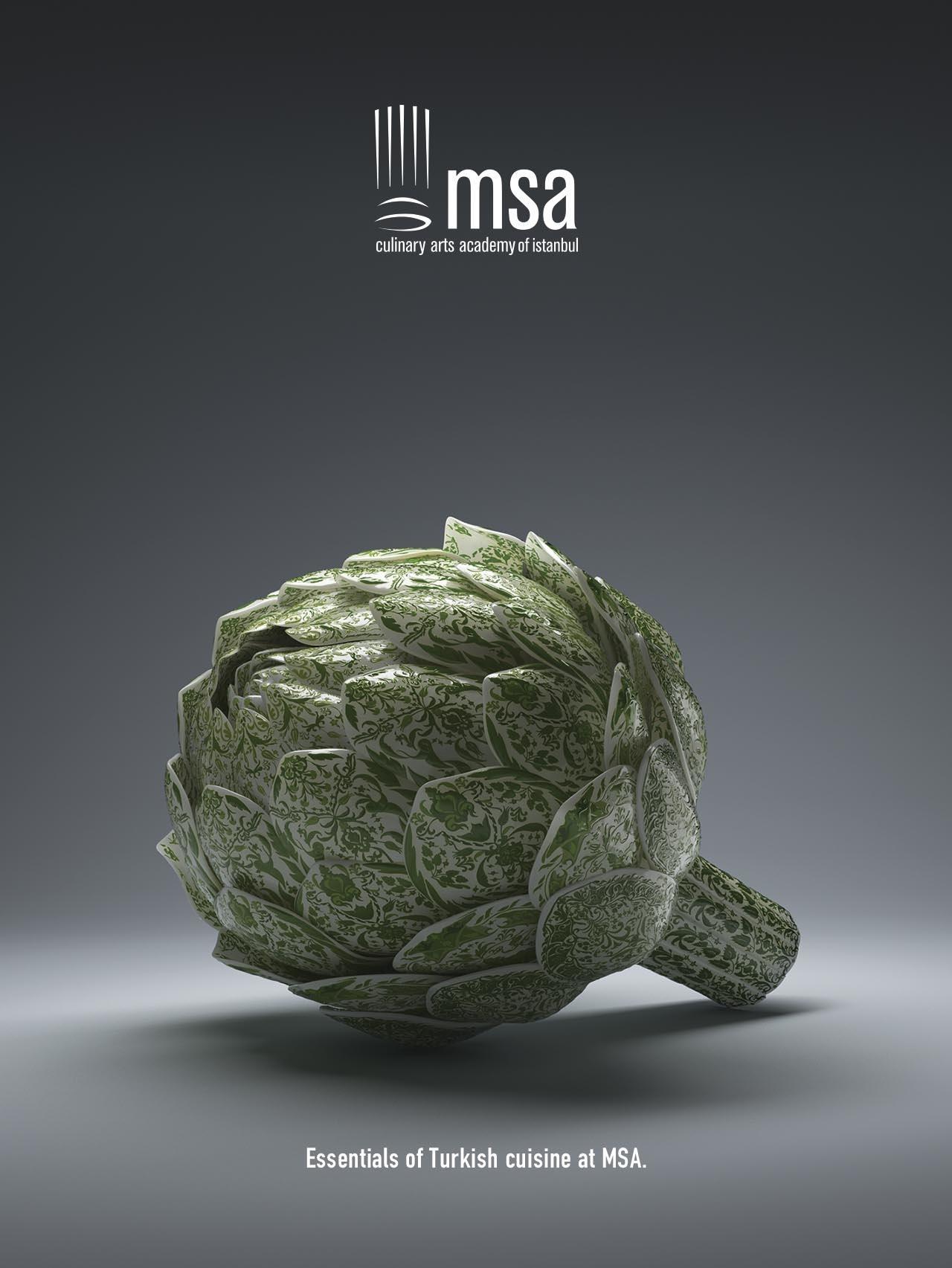 MSA Culinary Arts Academy Print Ad -  Artichoke