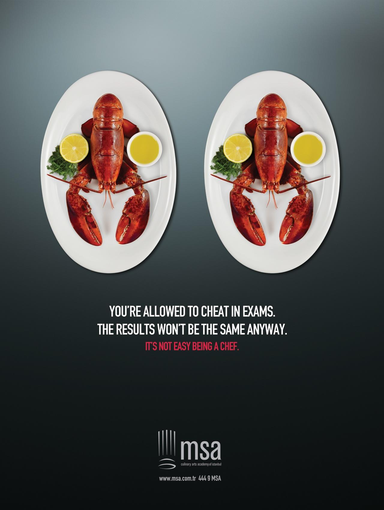MSA Culinary Arts Academy Print Ad -  Lobster