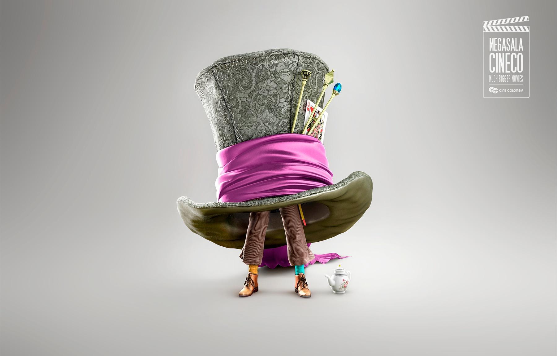 Cine Colombia Print Ad -  Much Bigger Madhatter