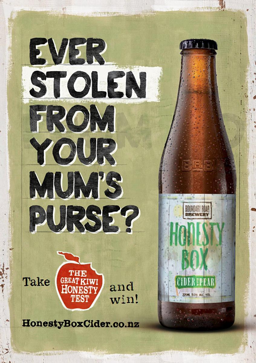 Honesty Box Cider Outdoor Ad -  Mums Purse