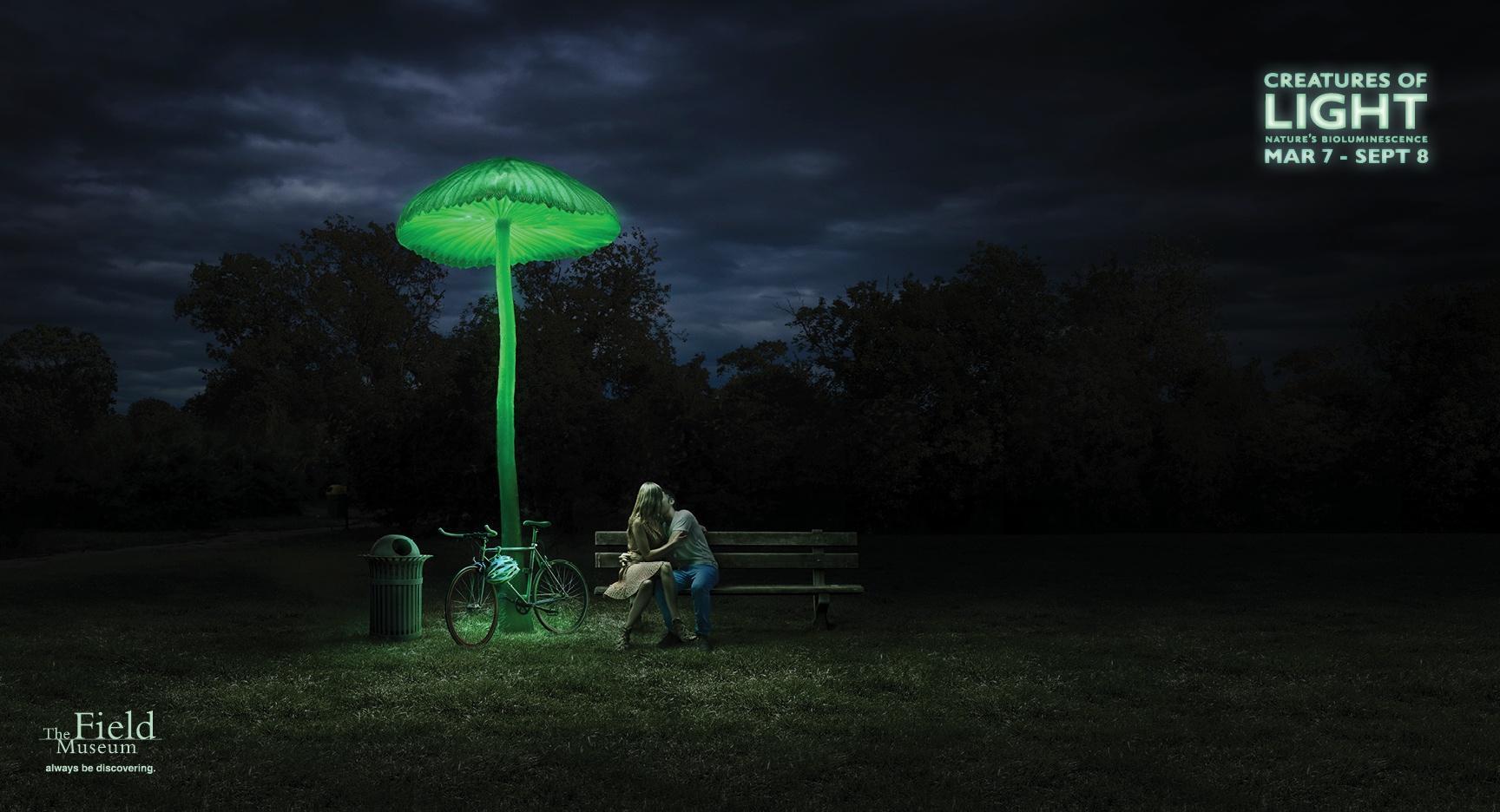 Chicago Field Museum Outdoor Ad -  Creatures of Light, Mushroom