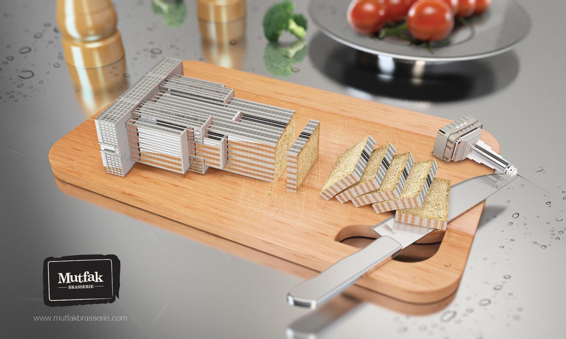 Mutfak Brasserie Print Ad -  World cuisine, New York