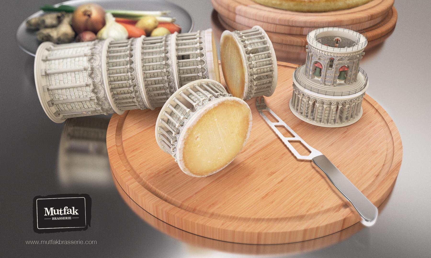 Mutfak Brasserie Print Ad -  World cuisine, Pisa