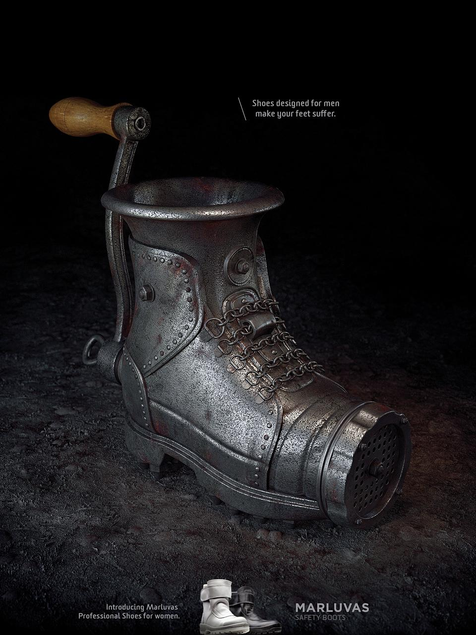 Marluvas Safety Boots Print Ad -  Meat grinder