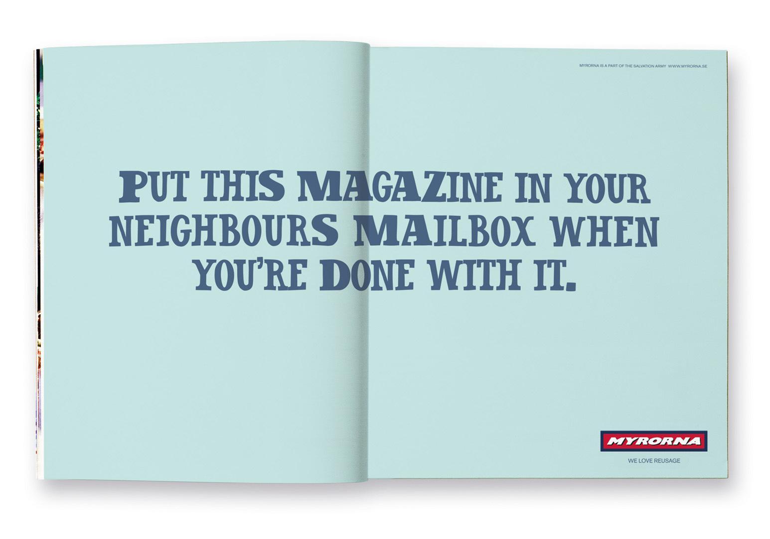 Myrorna Print Ad -  Magazine