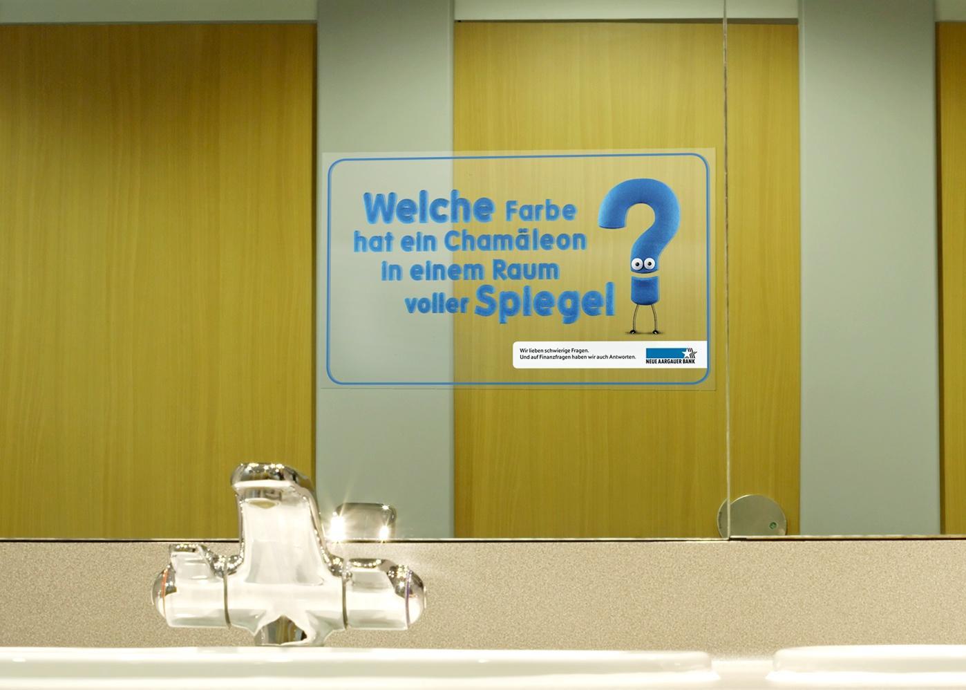 Neue Aargauer Bank Outdoor Ad -  Chameleon