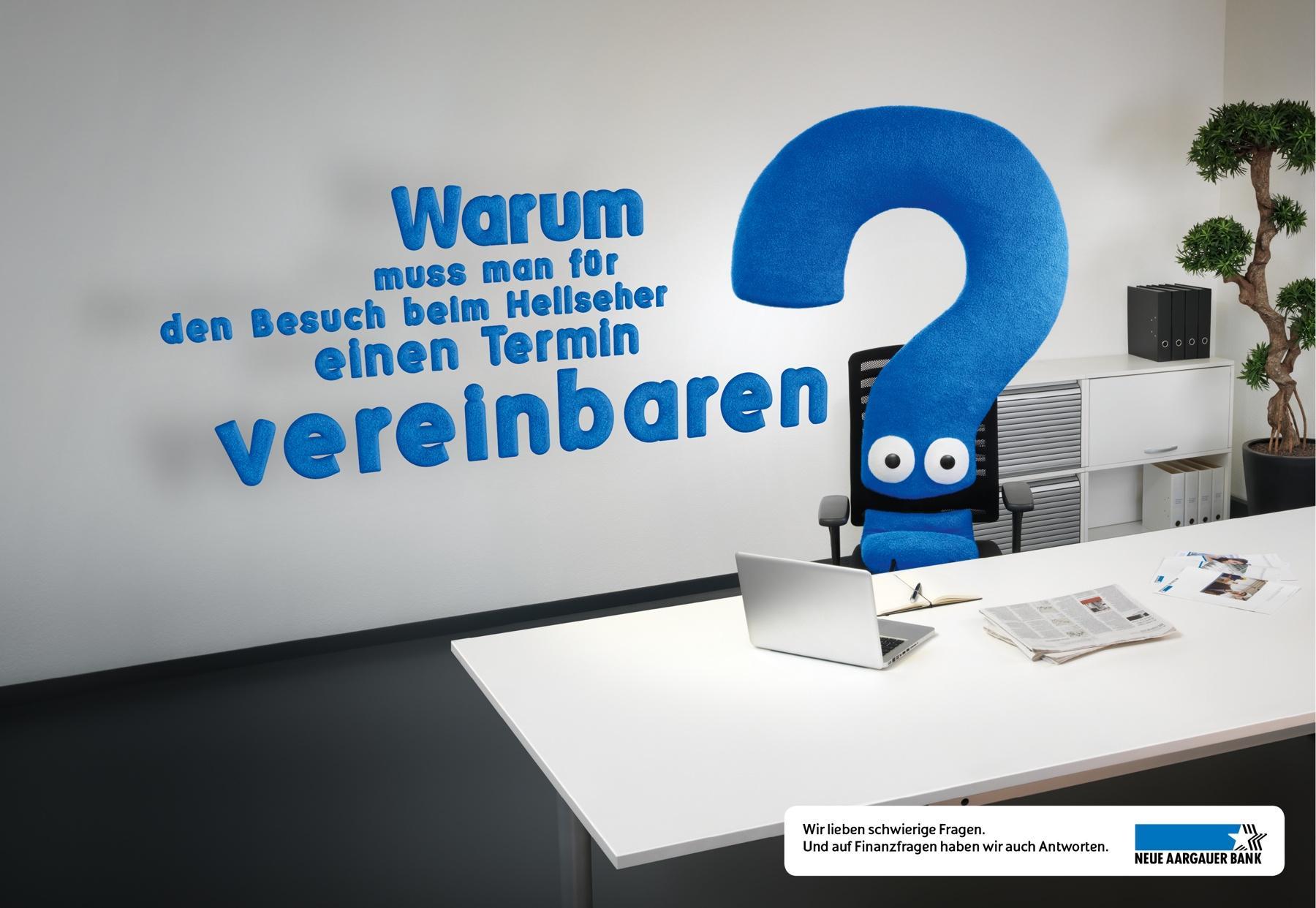 Neue Aargauer Bank Print Ad -  Clairvoyant