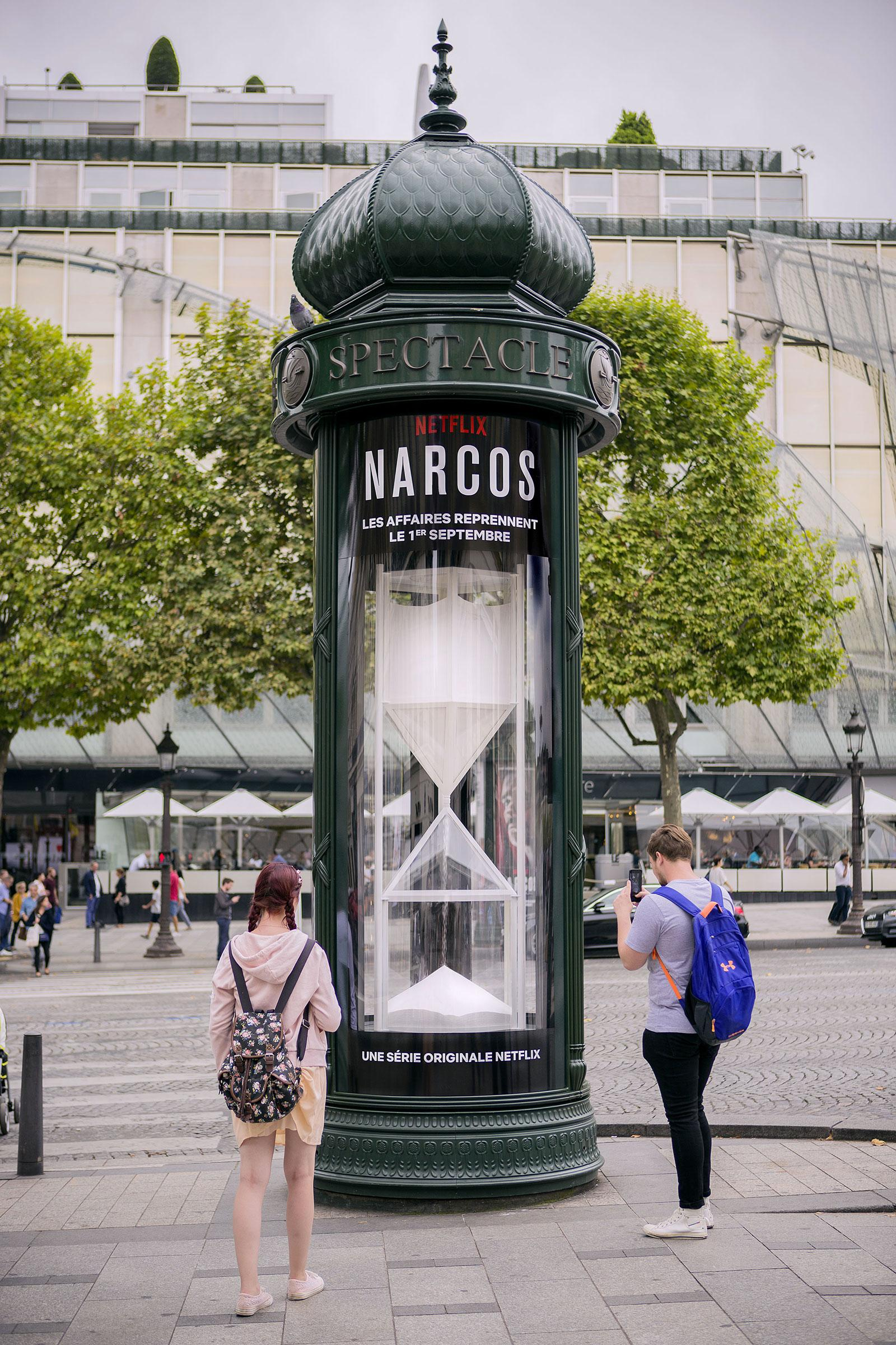Netflix Outdoor Ad - Narcos Season 3 - The White Countdown