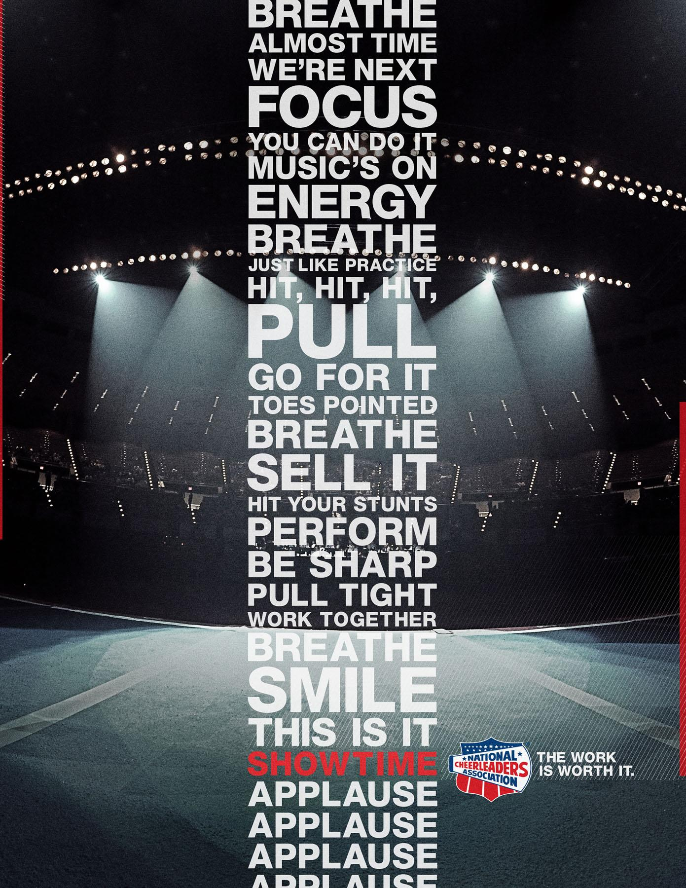 National Cheerleaders Association Print Ad -  Stage
