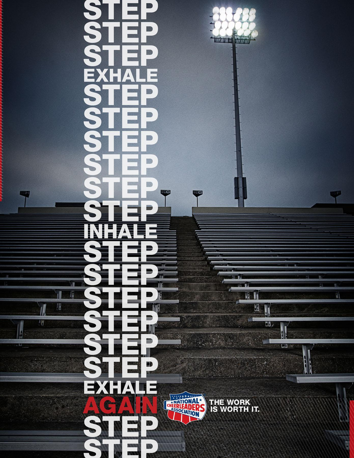 National Cheerleaders Association Print Ad -  Steps
