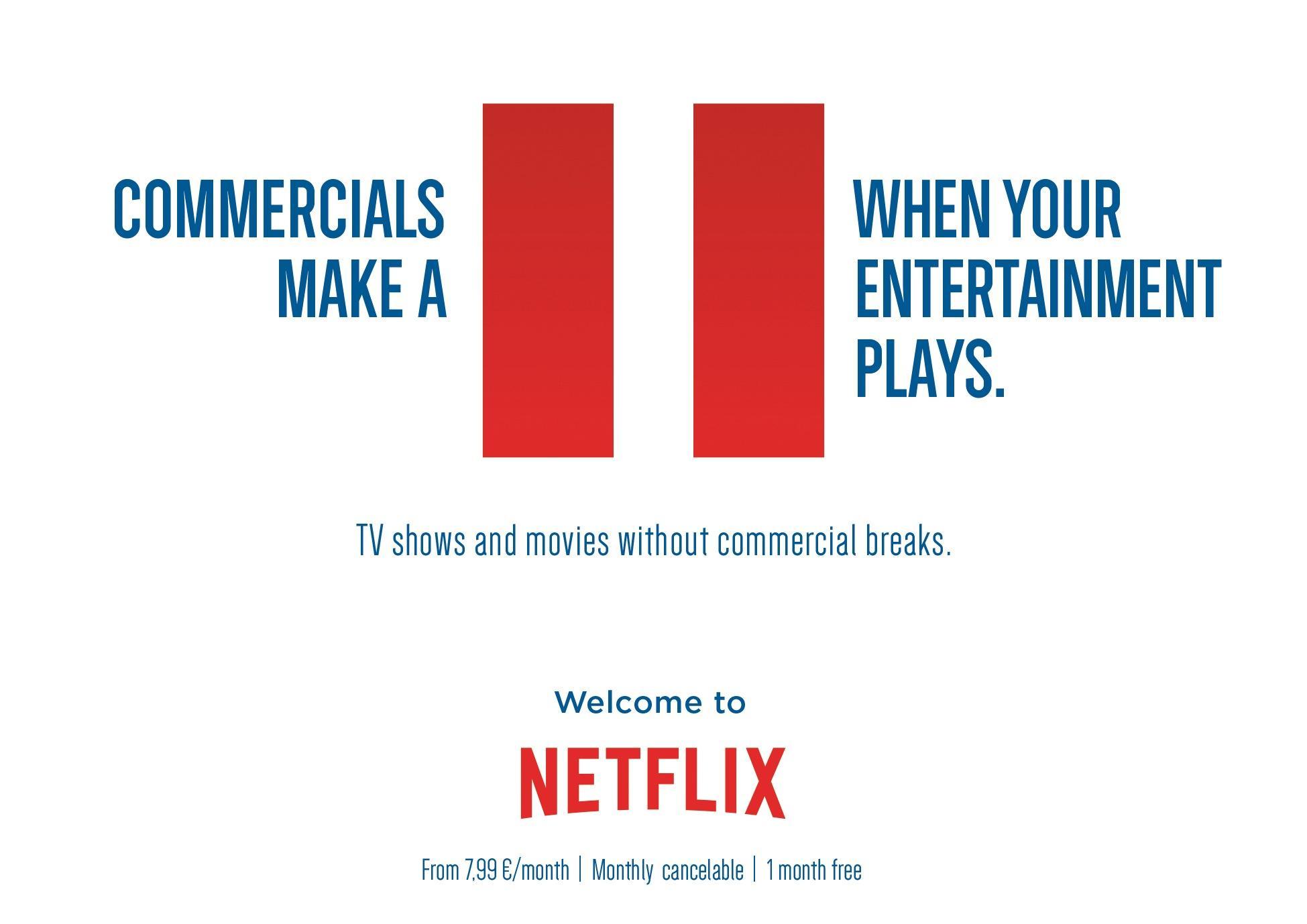 Netflix print advert by jung von matt pause ads of the for Christian kies