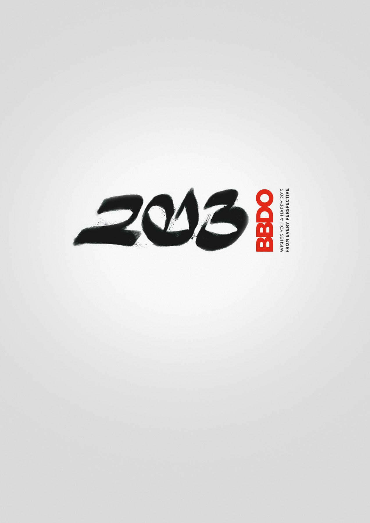 New BBDO Print Ad -  2013 wishes