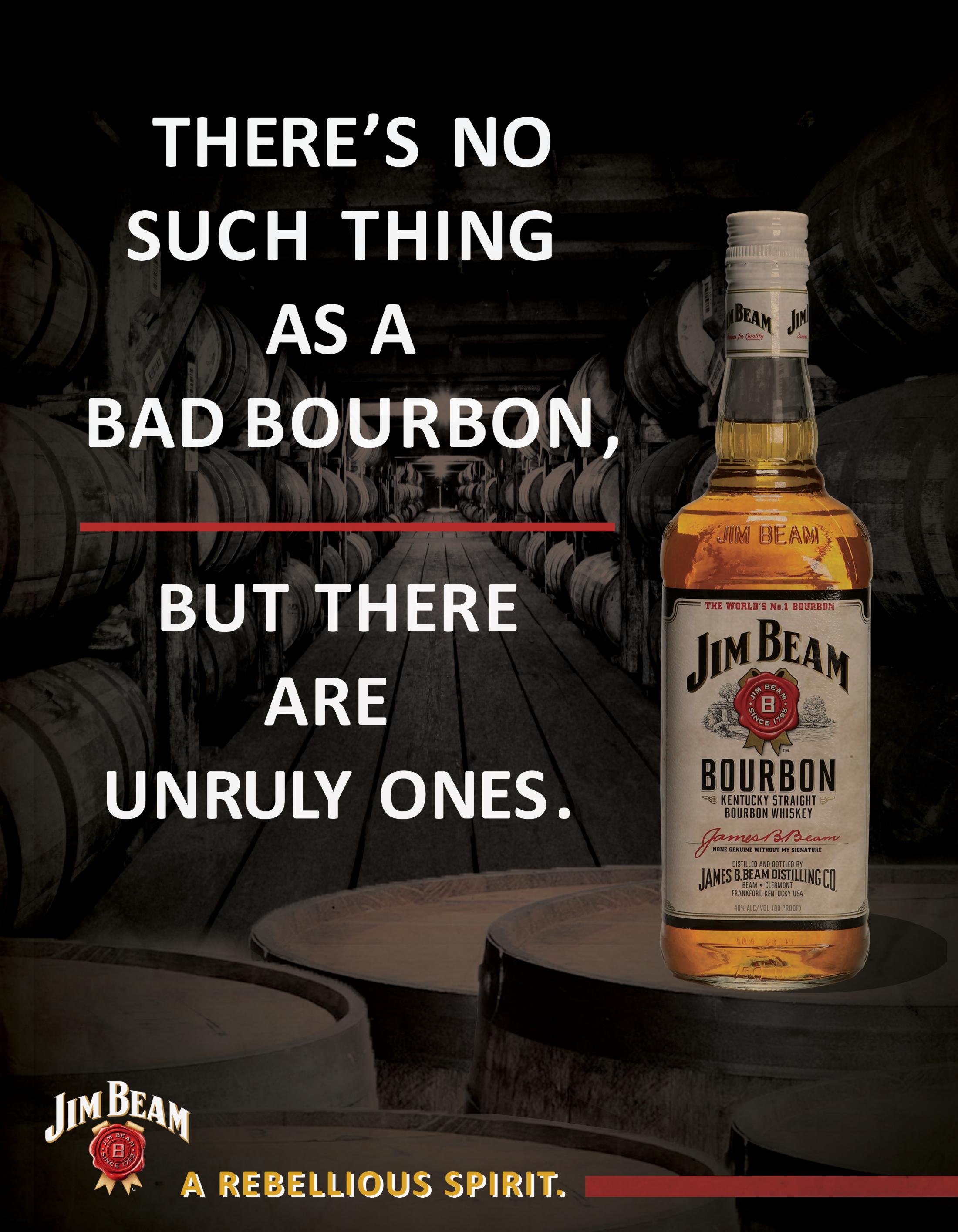 Jim Beam Print Ad - A Rebellious Spirit, 3