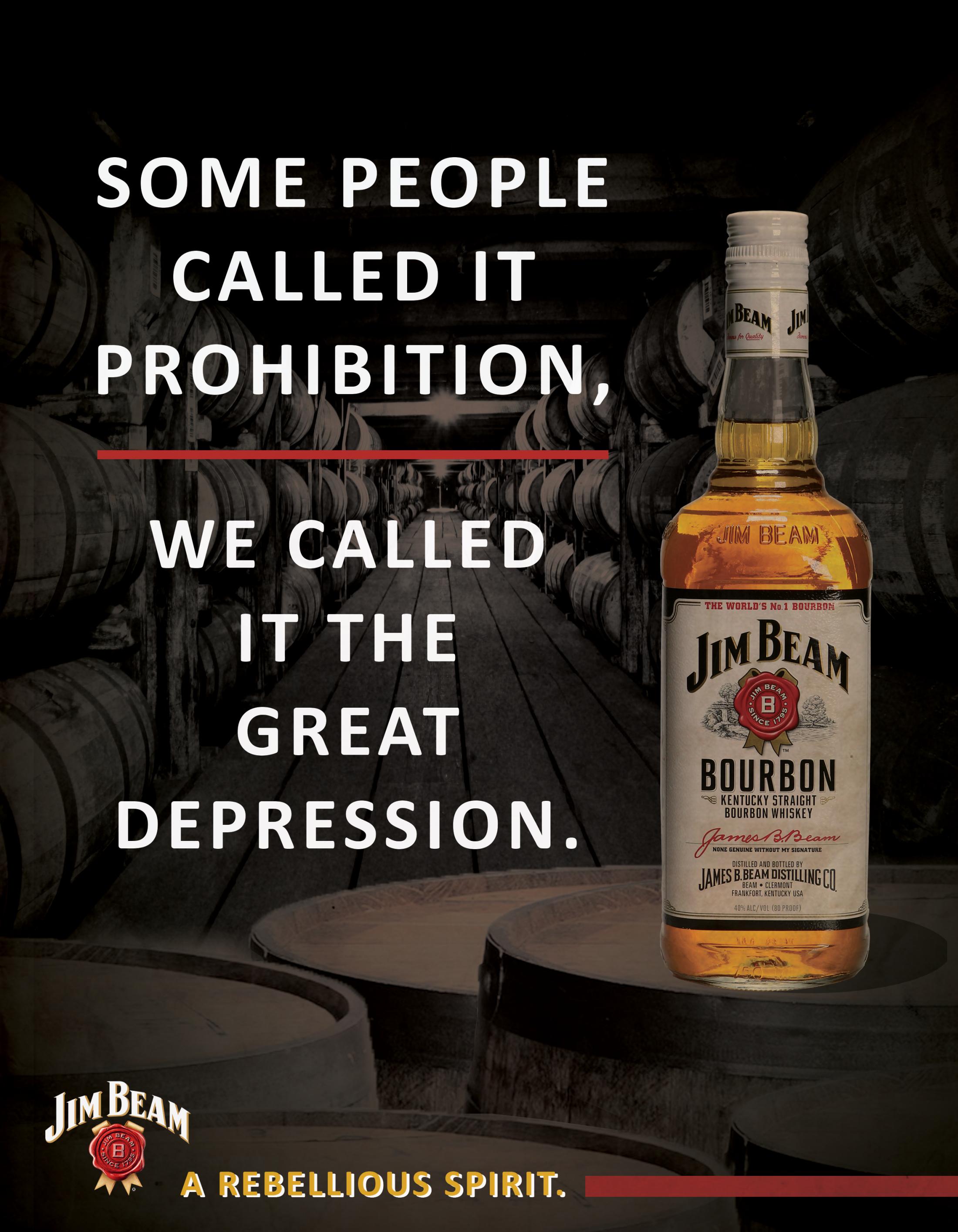 Jim Beam Print Ad - A Rebellious Spirit, 2