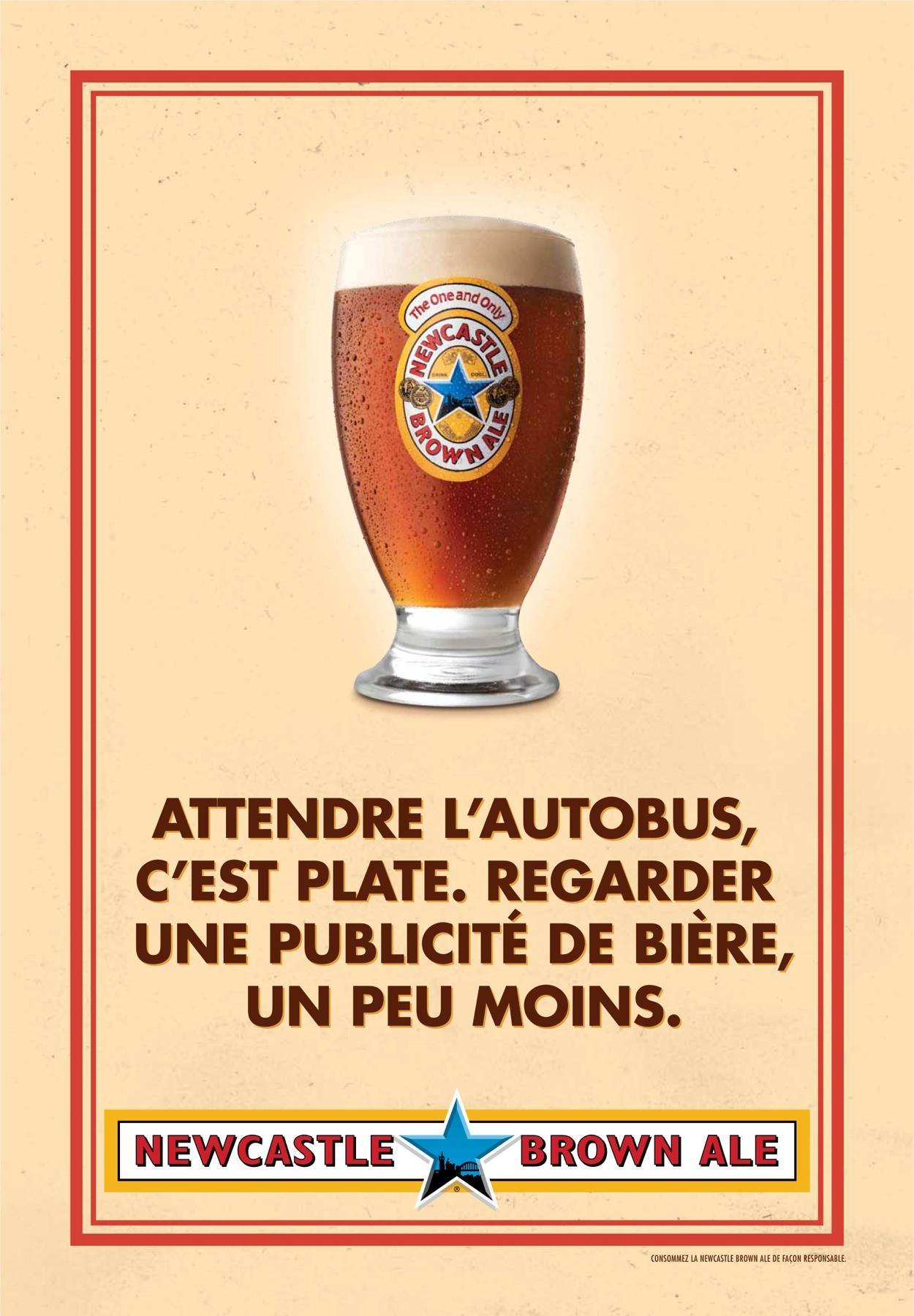 Newcastle Brown Ale Print Ad -  No Bollocks, 1