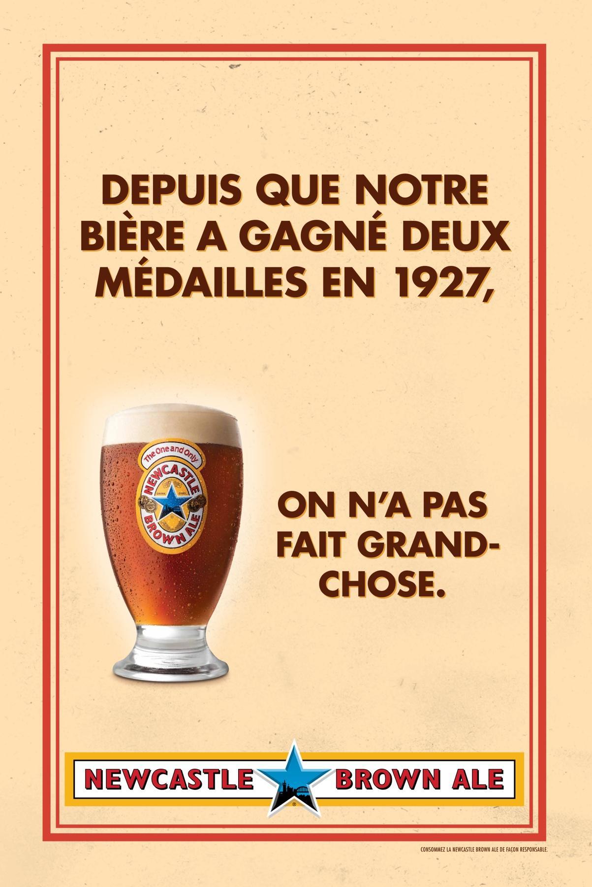 Newcastle Brown Ale Print Ad -  No Bollocks, 2
