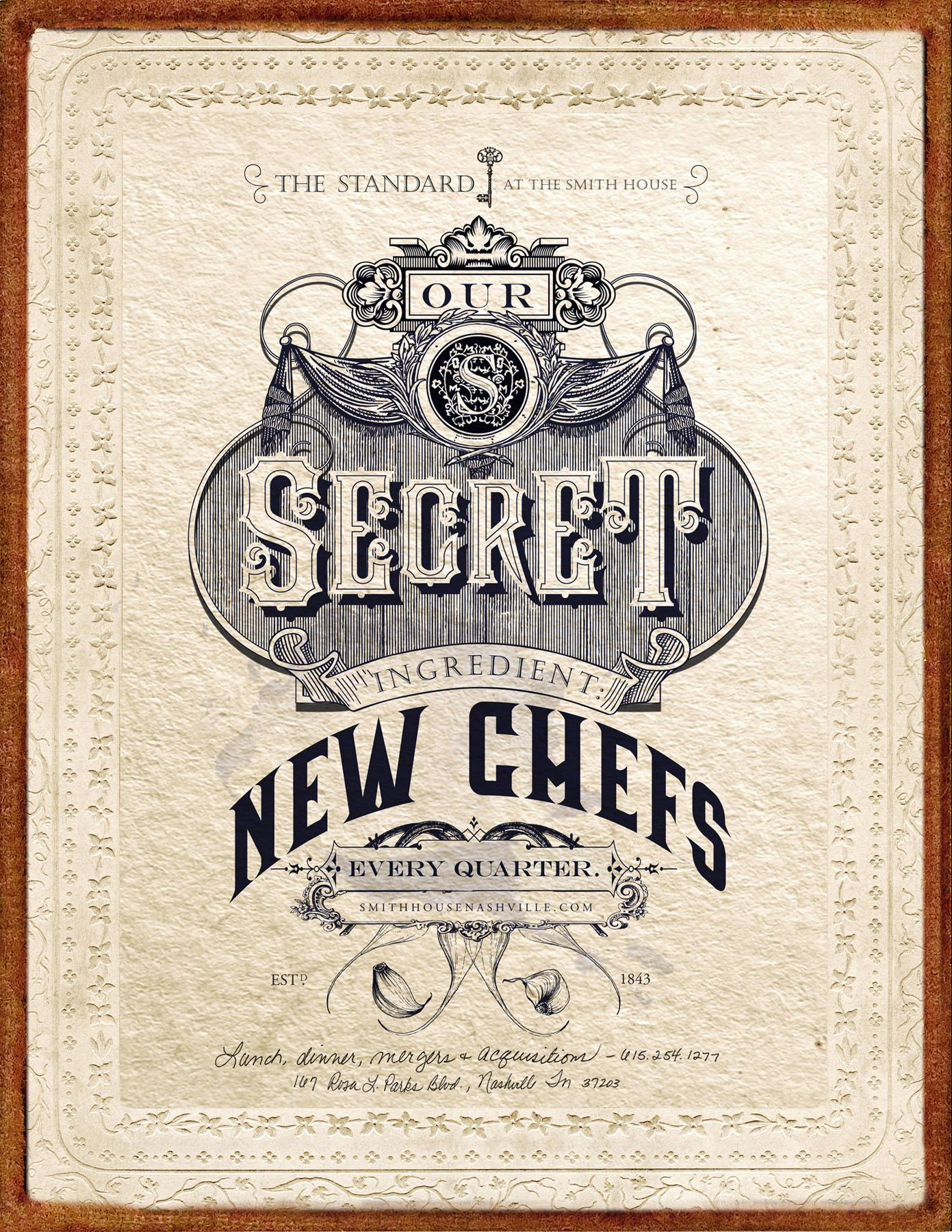 The Standard Print Ad -  New Chefs