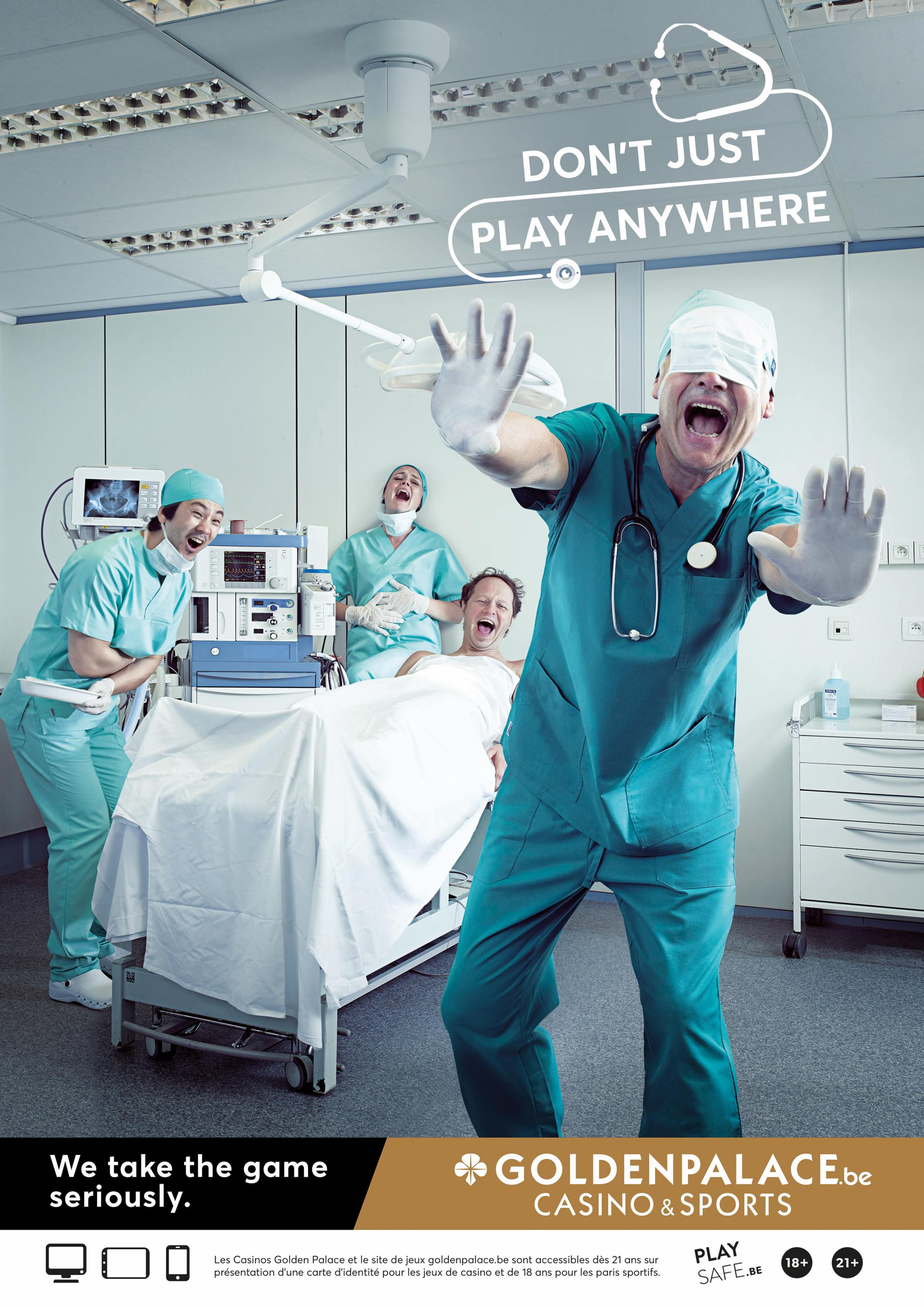 Golden Palace Print Ad - Don't just play anywhere, 4