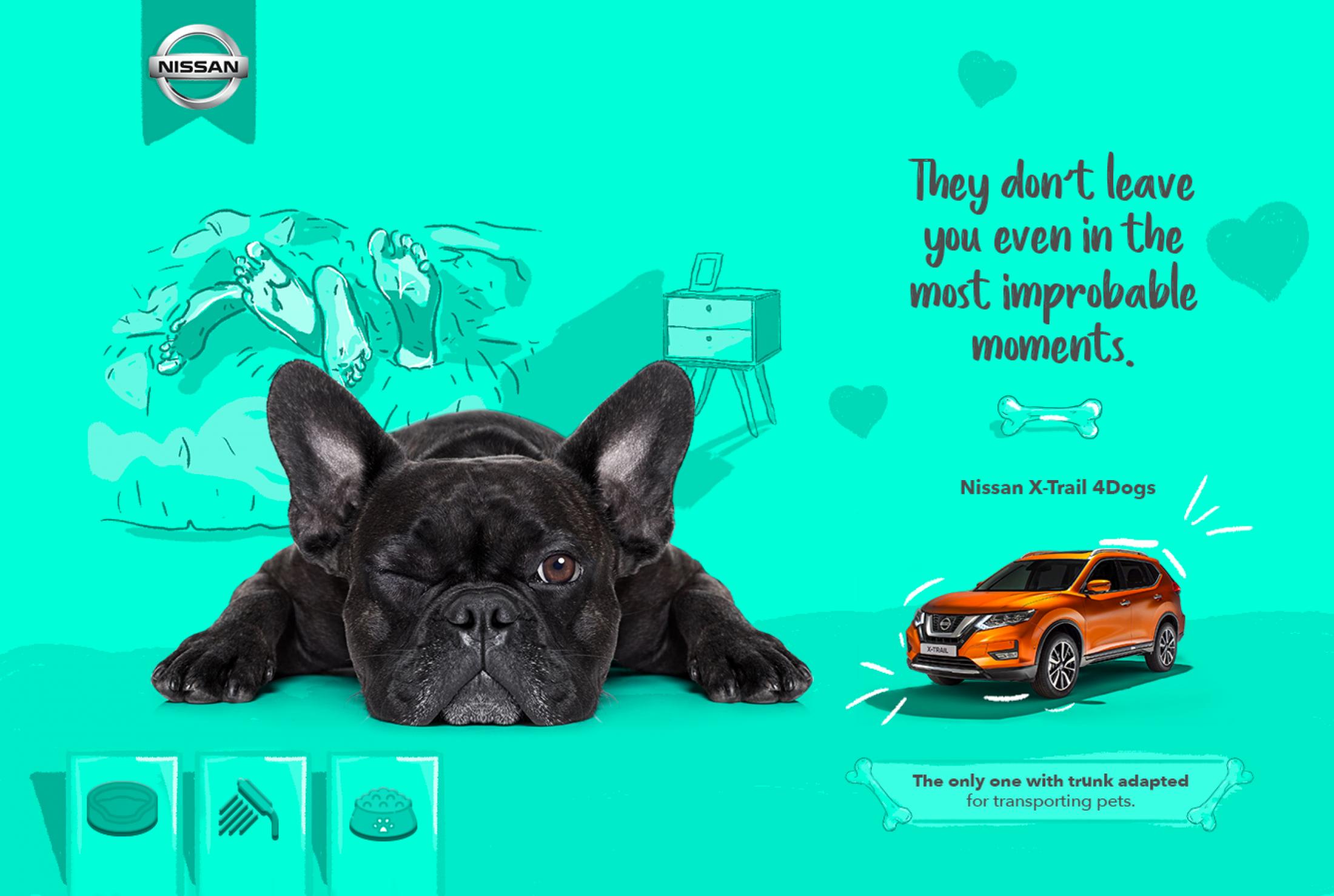 Nissan Print Ad - X-Trail 4 Dogs, 2