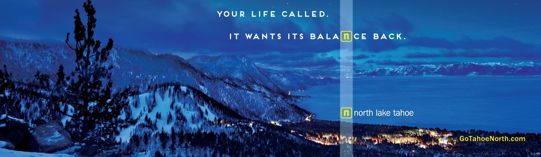 North Lake Tahoe Outdoor Ad -  Balance