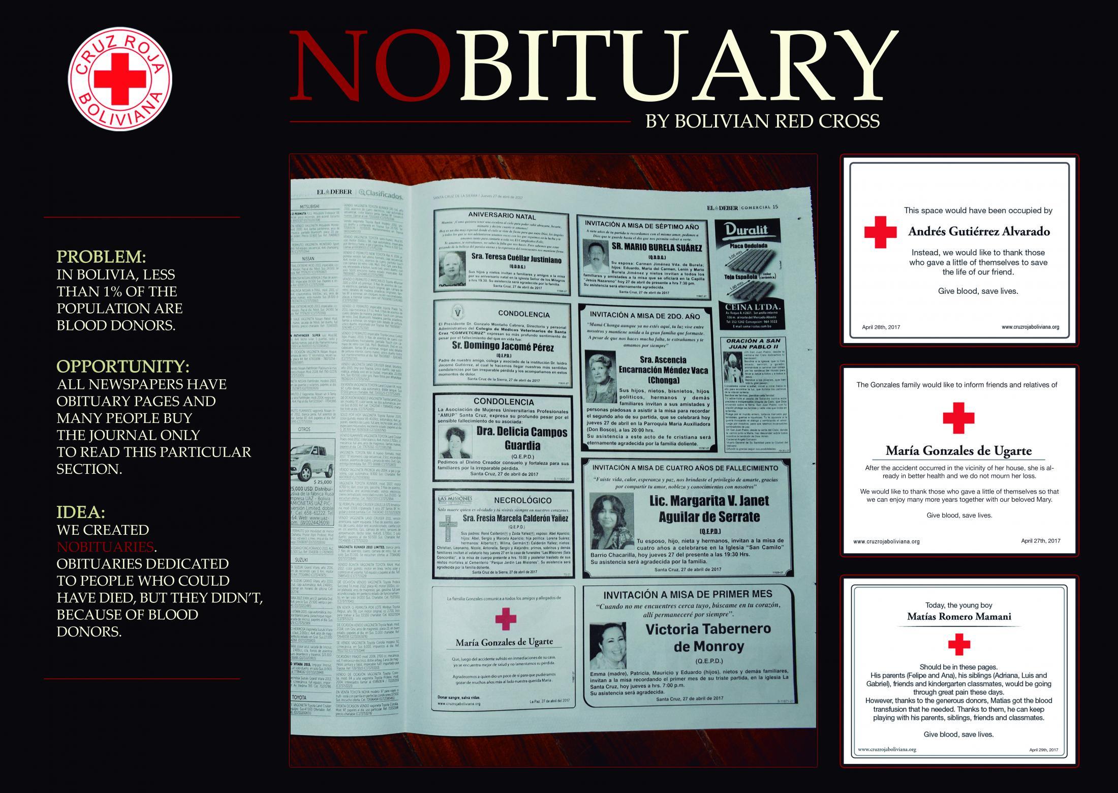 Cruz Roja Print Ad - Nobituaries