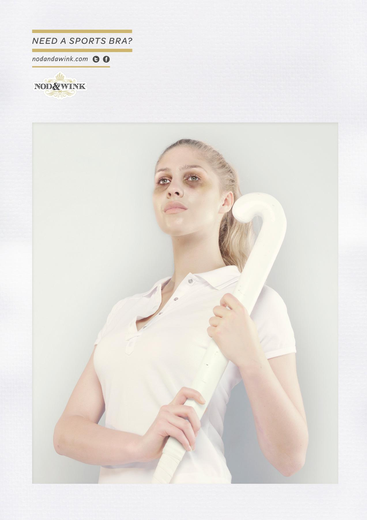 Nod and a Wink Print Ad -  Field hockey
