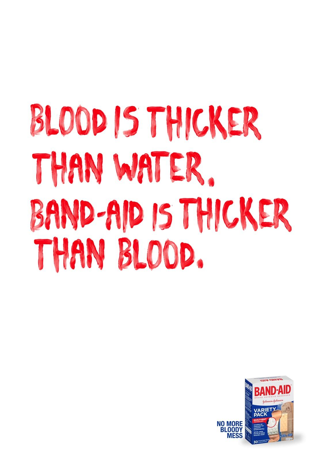 Band Aid Print Ad - No More Bloody Mess, 1